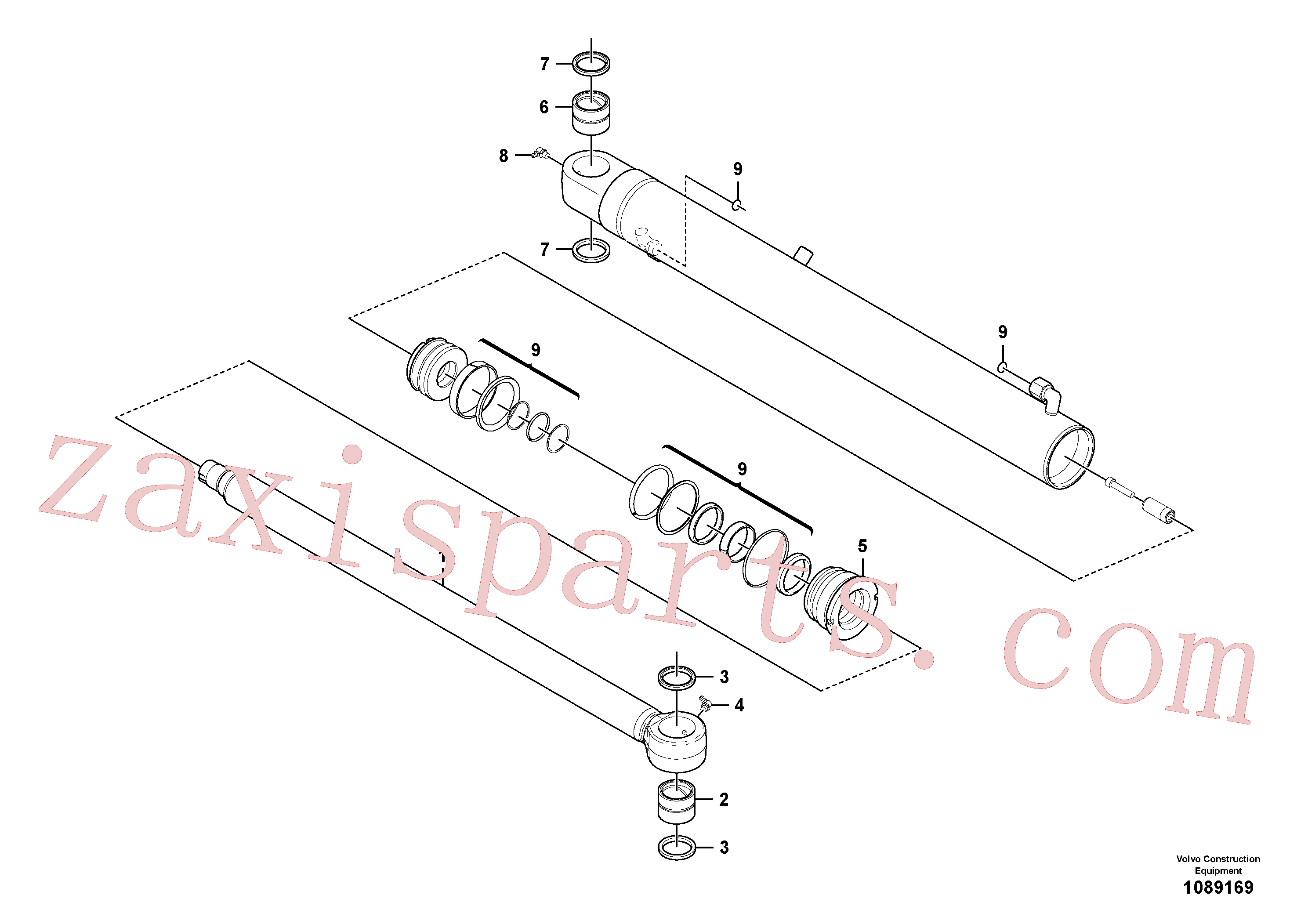 VOE11988967 for Volvo Dipper arm cylinder(1089169 assembly)