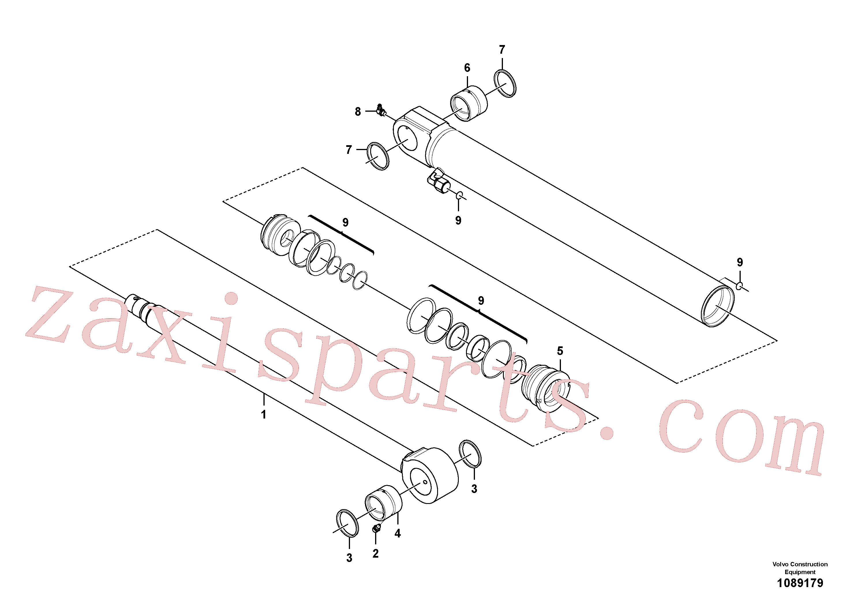 VOE17207983 for Volvo Bucket cylinder(1089179 assembly)