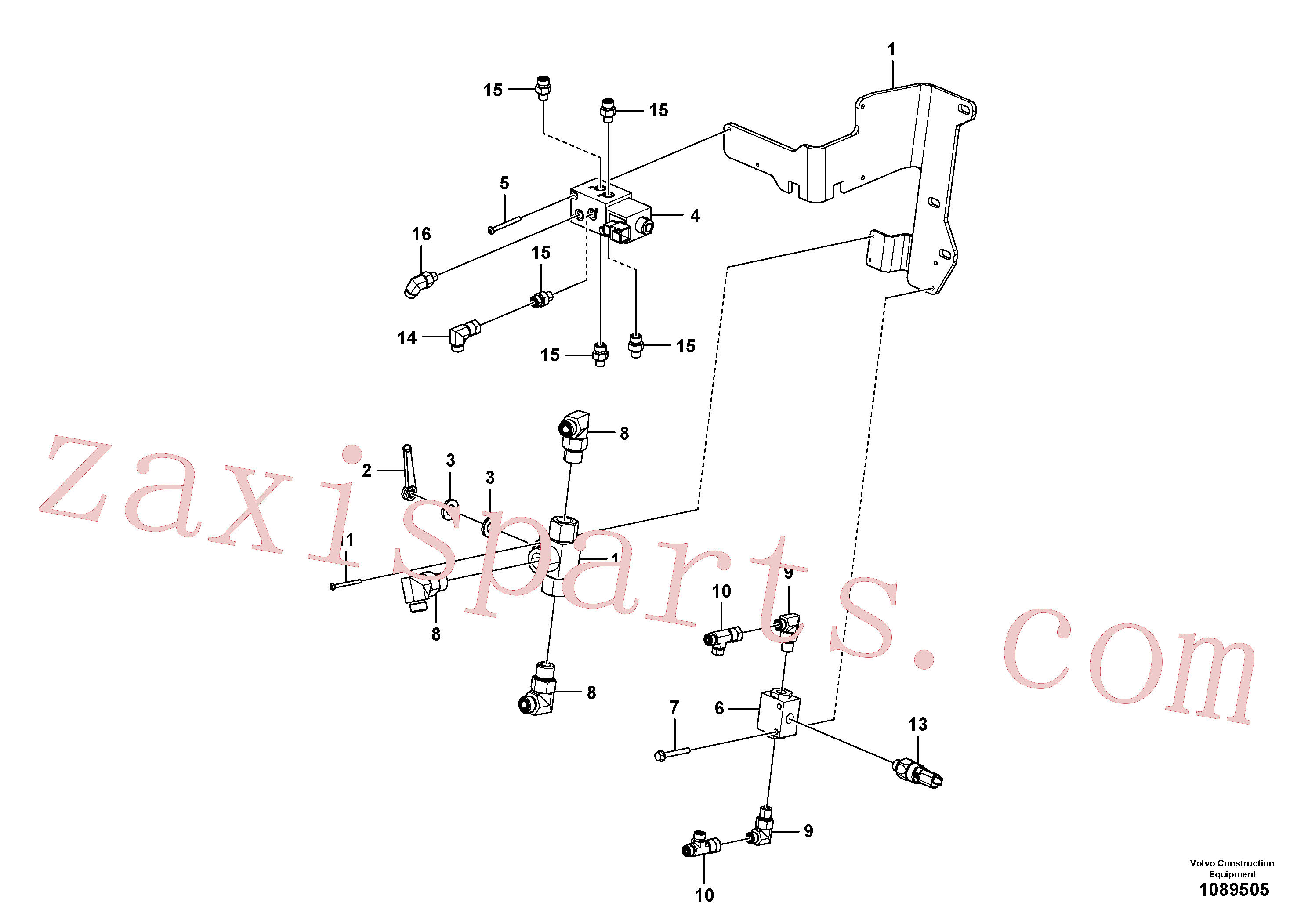 VOE15679296 for Volvo Hydraulic valve(1089505 assembly)