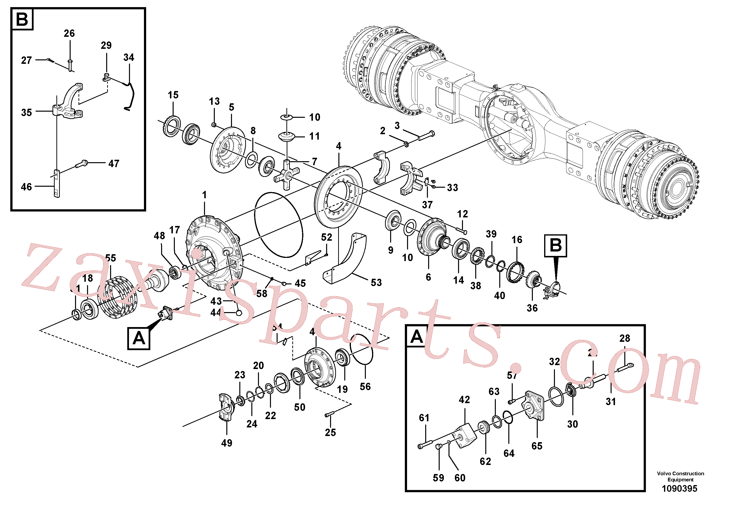 VOE17262158 for Volvo Final drive(1090395 assembly)