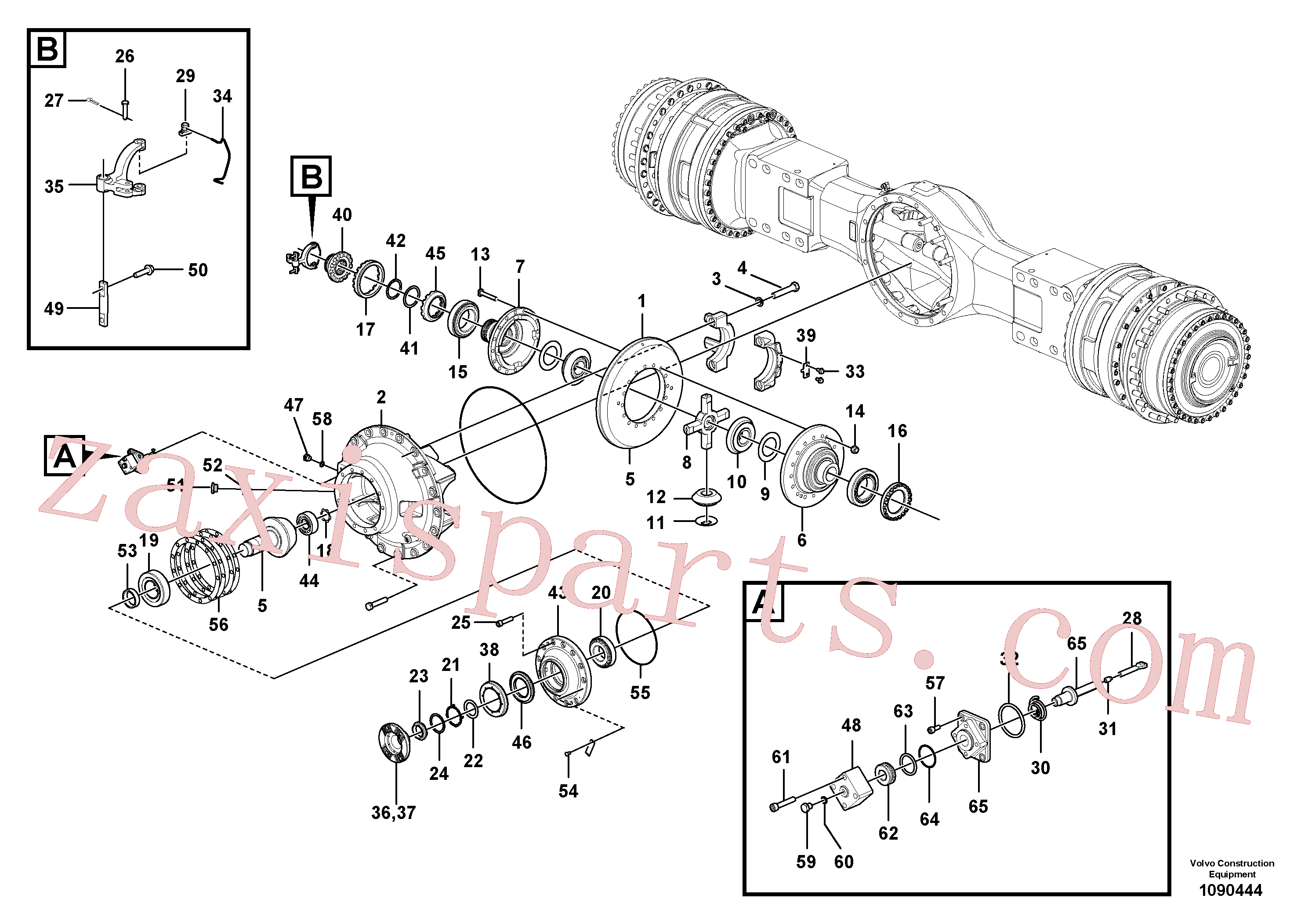 VOE17262158 for Volvo Final drive(1090444 assembly)
