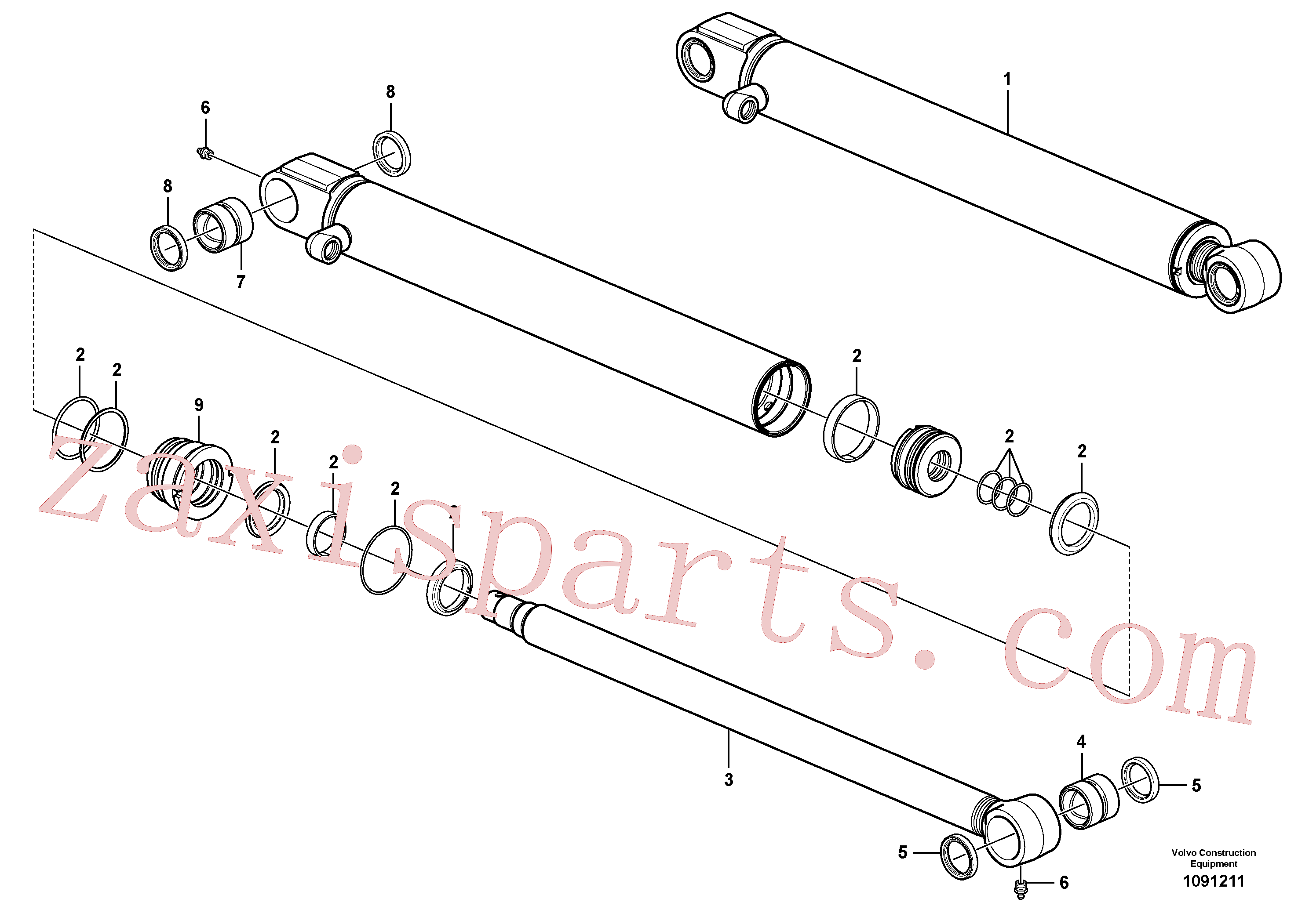 VOE17207983 for Volvo Bucket cylinder(1091211 assembly)