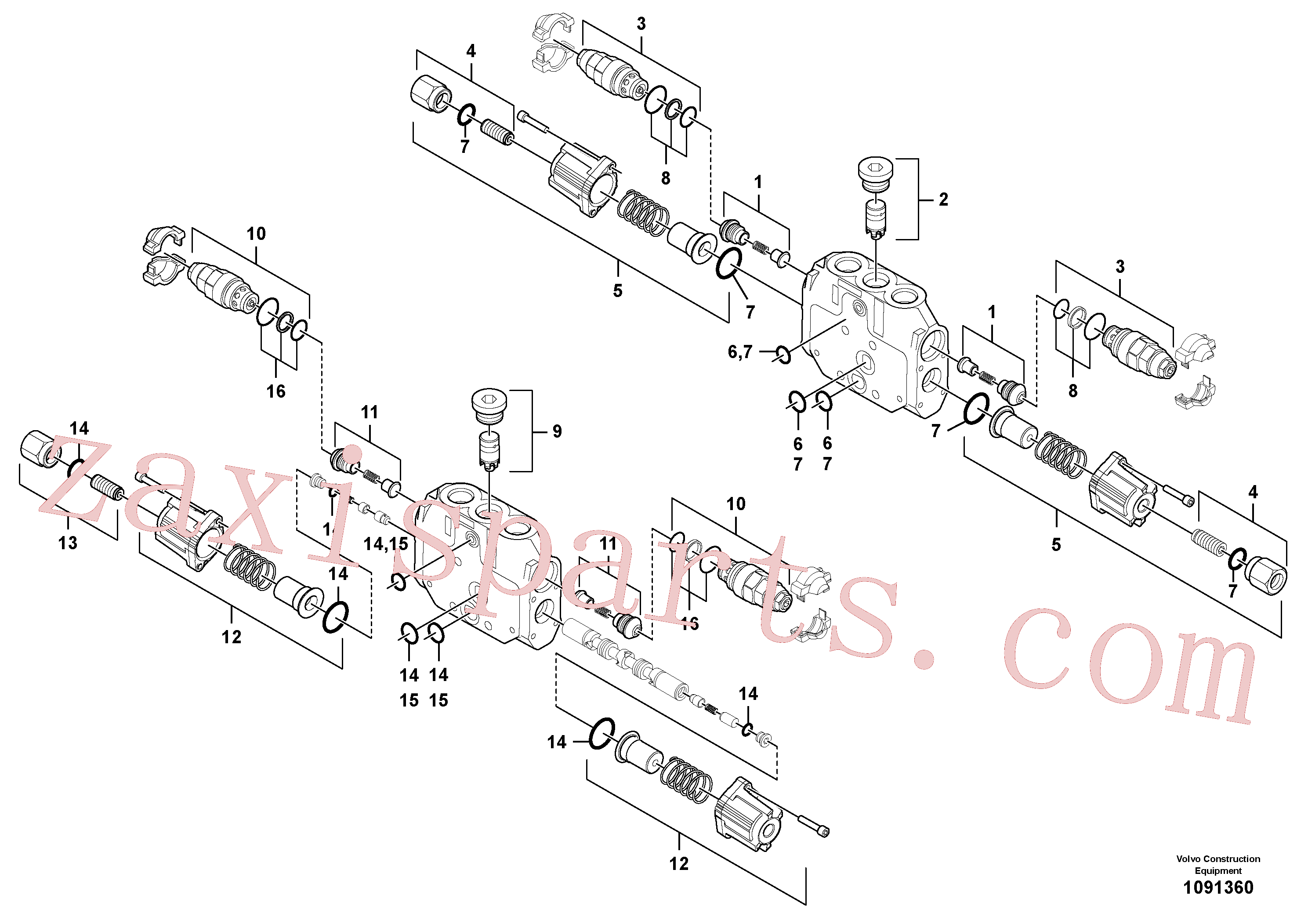 PJ7417729 for Volvo Valve section(1091360 assembly)