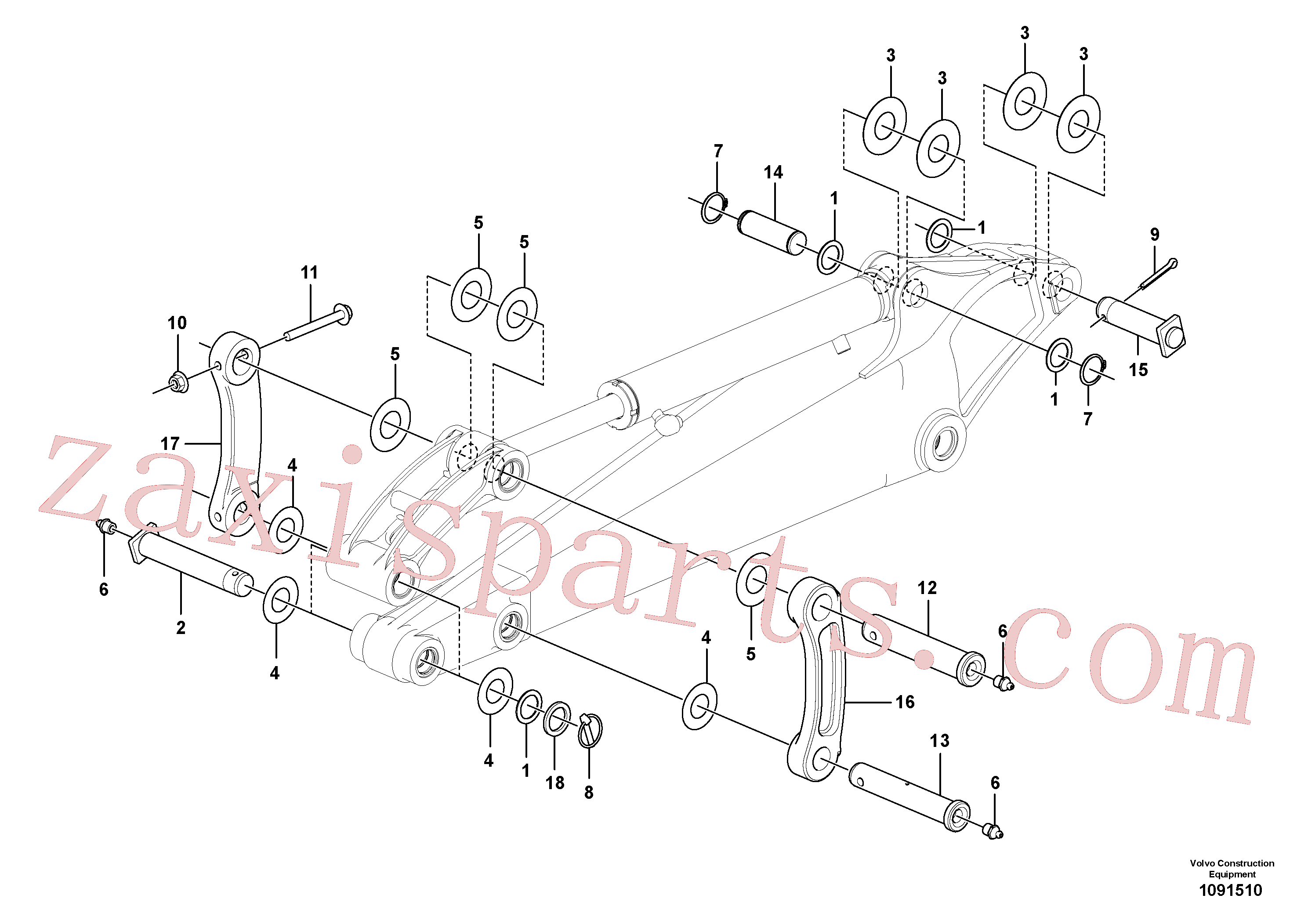 PJ4550047 for Volvo Links to dipper arm(1091510 assembly)