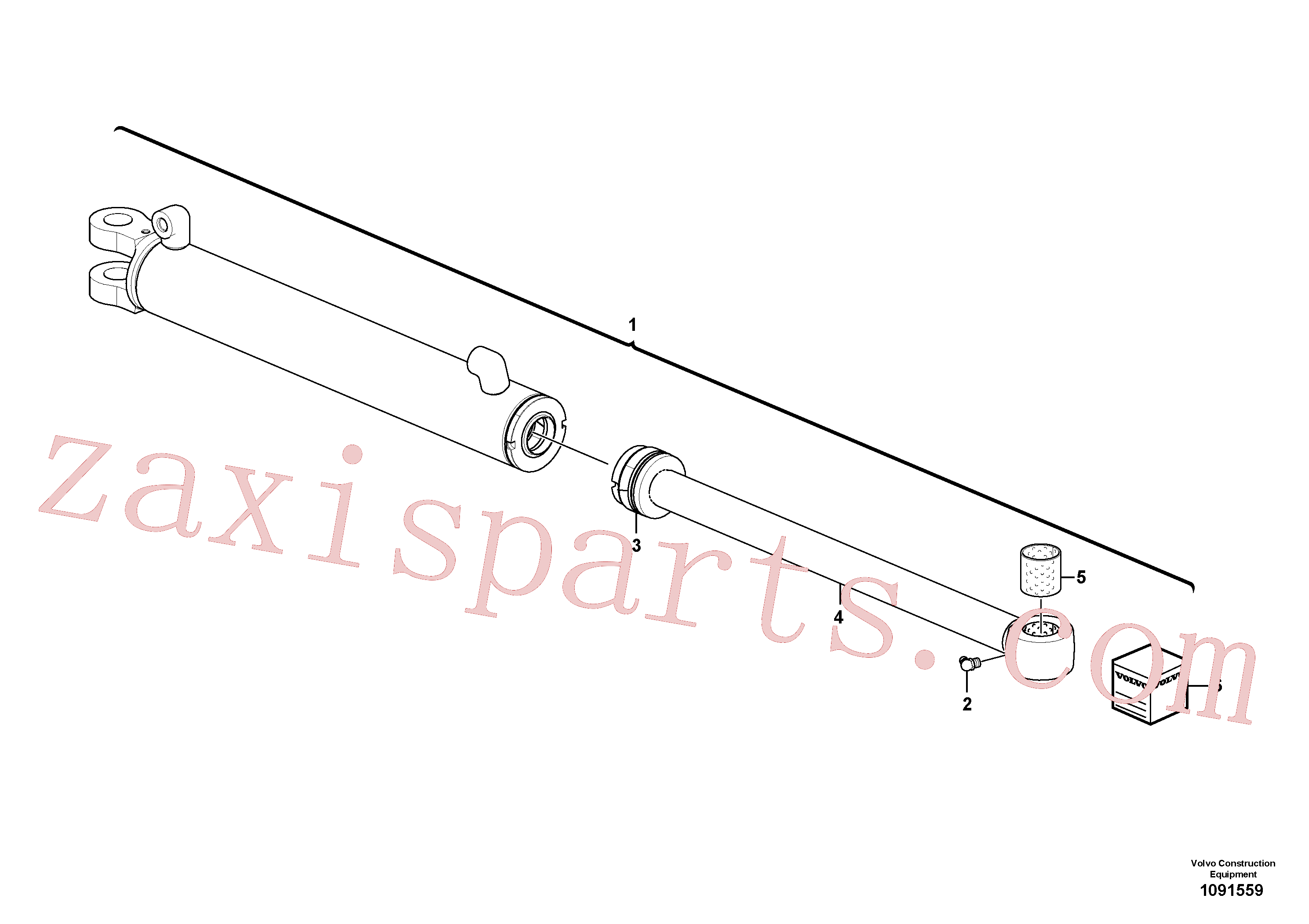 VOE17260239 for Volvo Boom offset cylinder(1091559 assembly)