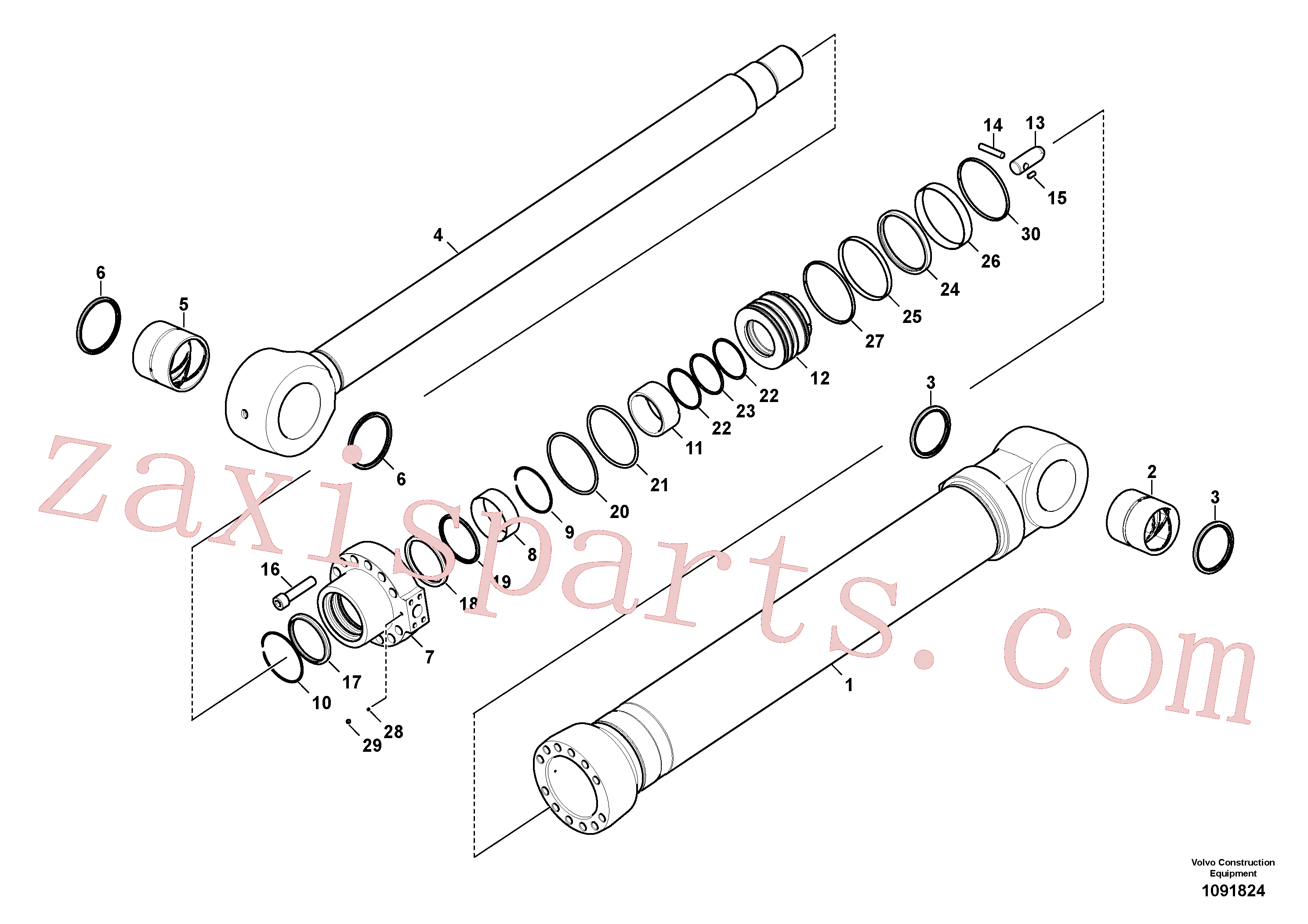 VOE14726271 for Volvo Bucket cylinder(1091824 assembly)