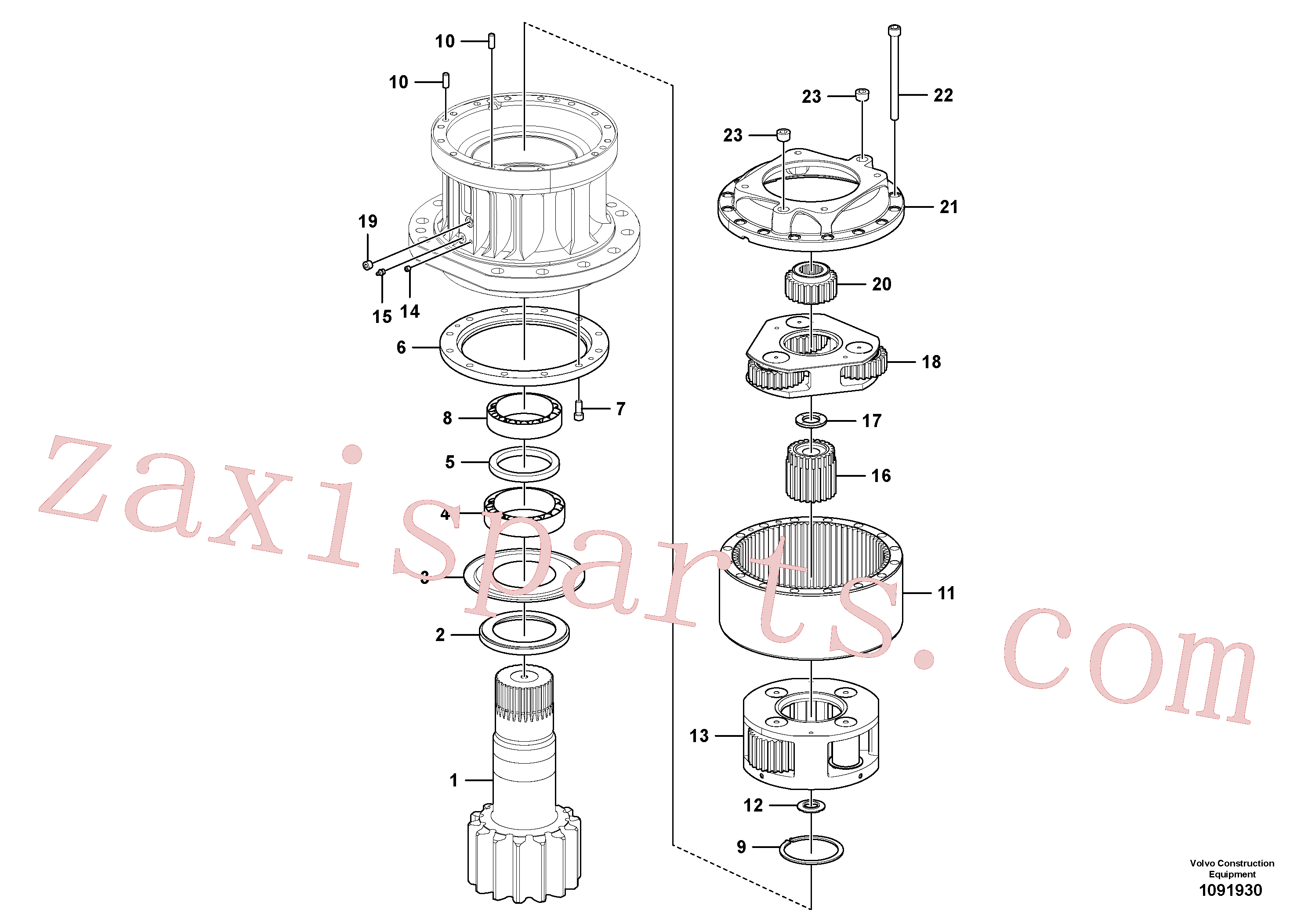 VOE14647338 for Volvo Swing gearbox(1091930 assembly)
