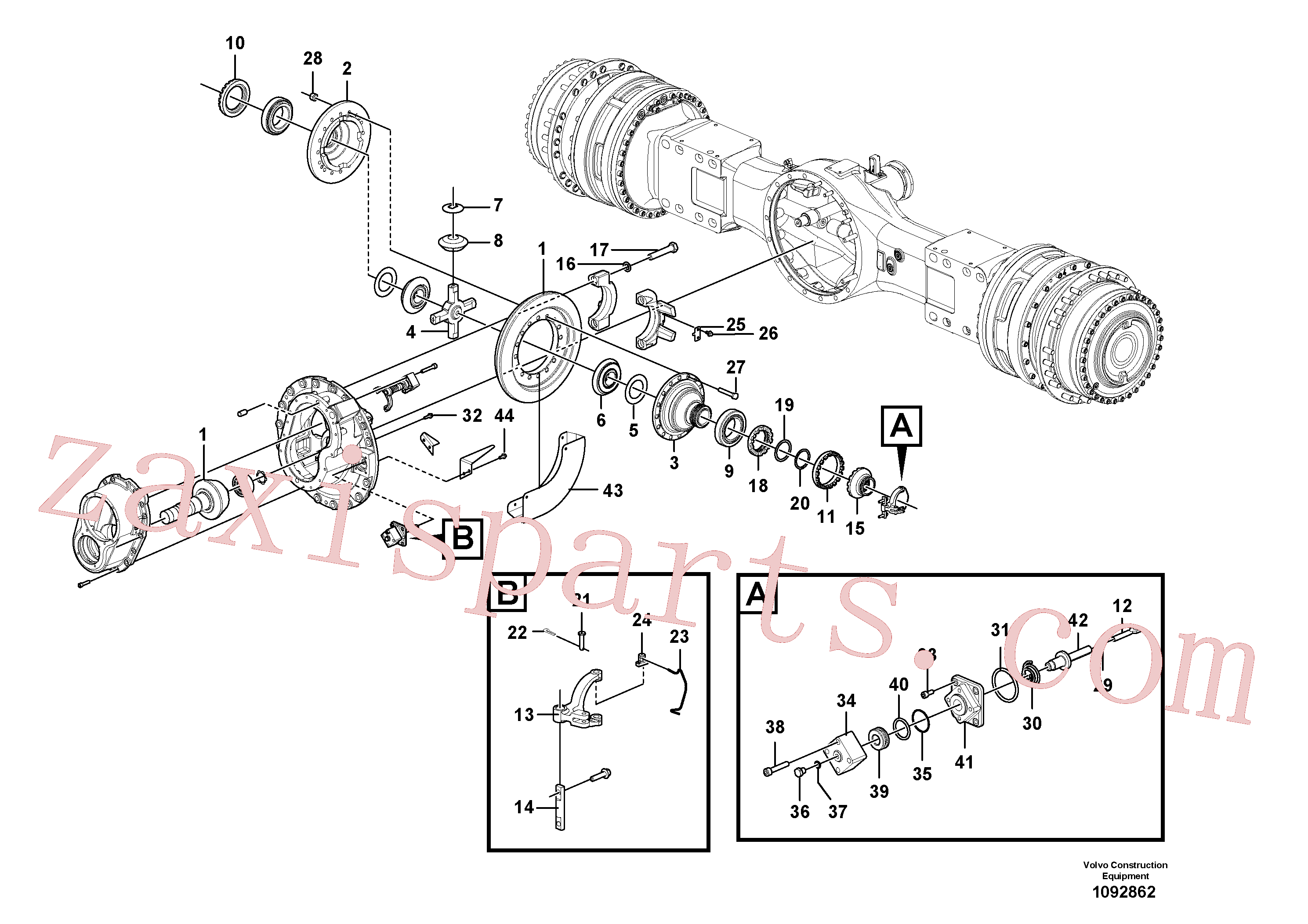 VOE17262158 for Volvo Final drive(1092862 assembly)
