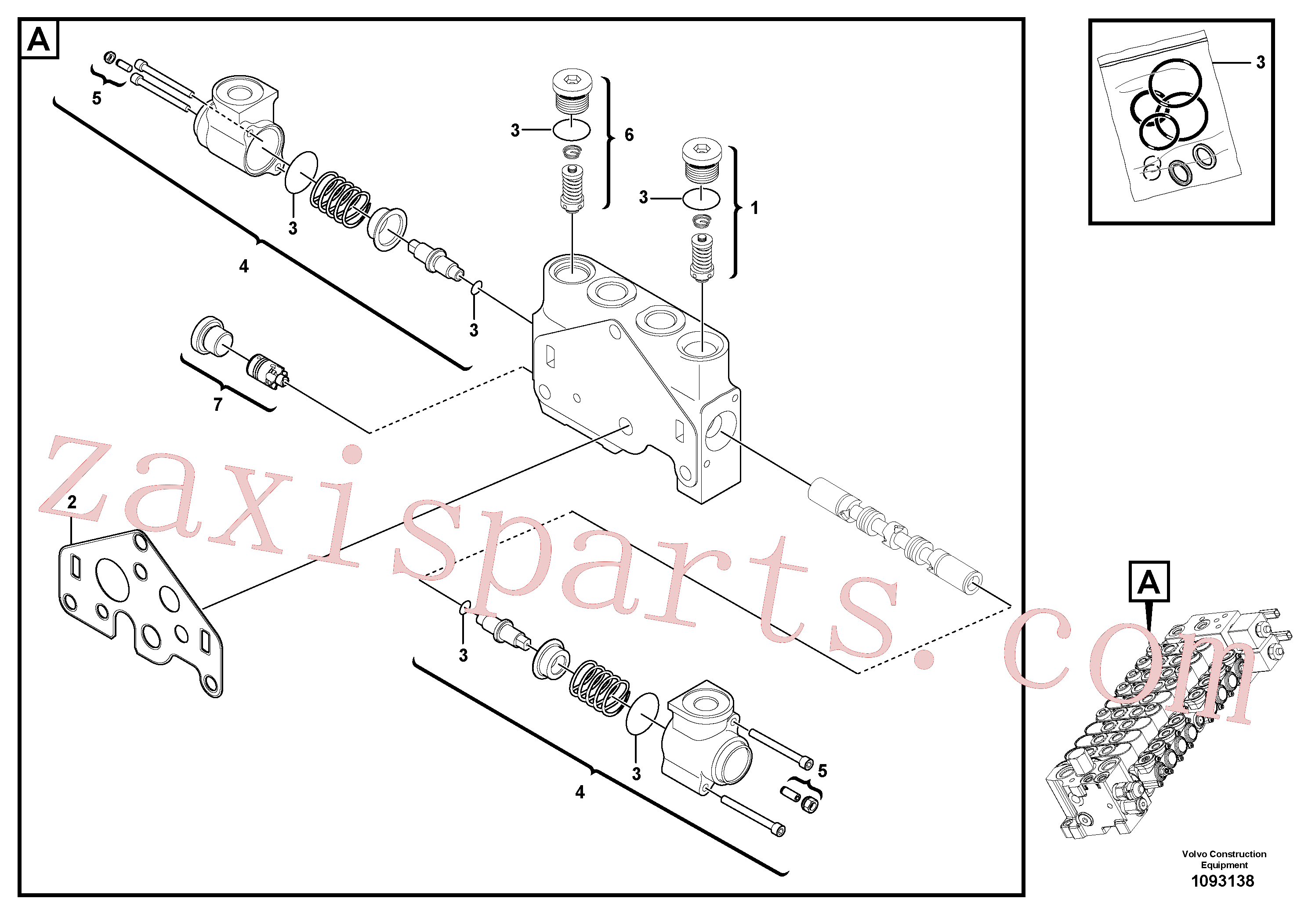 VOE17420194 for Volvo Valve section(1093138 assembly)
