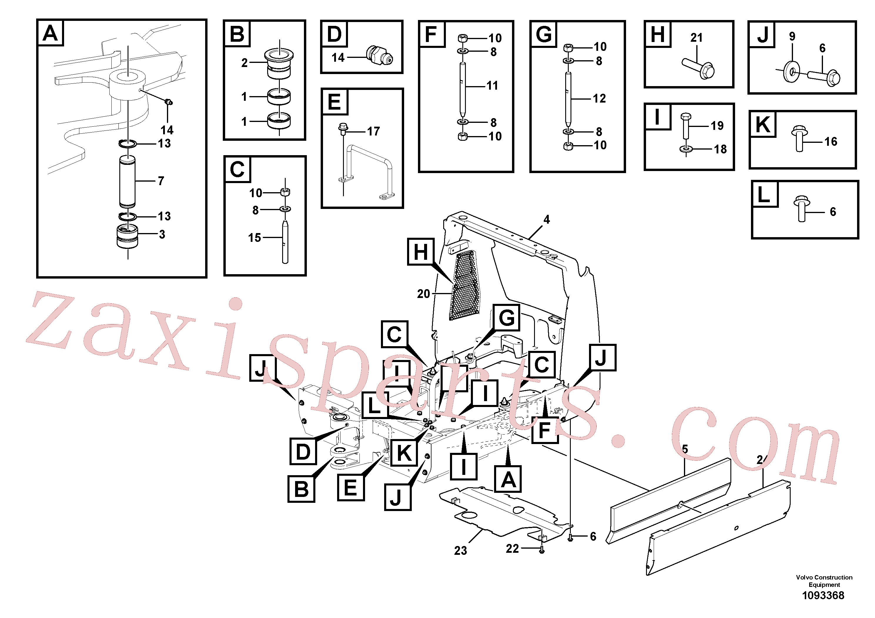 VOE15637869 for Volvo Superstructure(1093368 assembly)