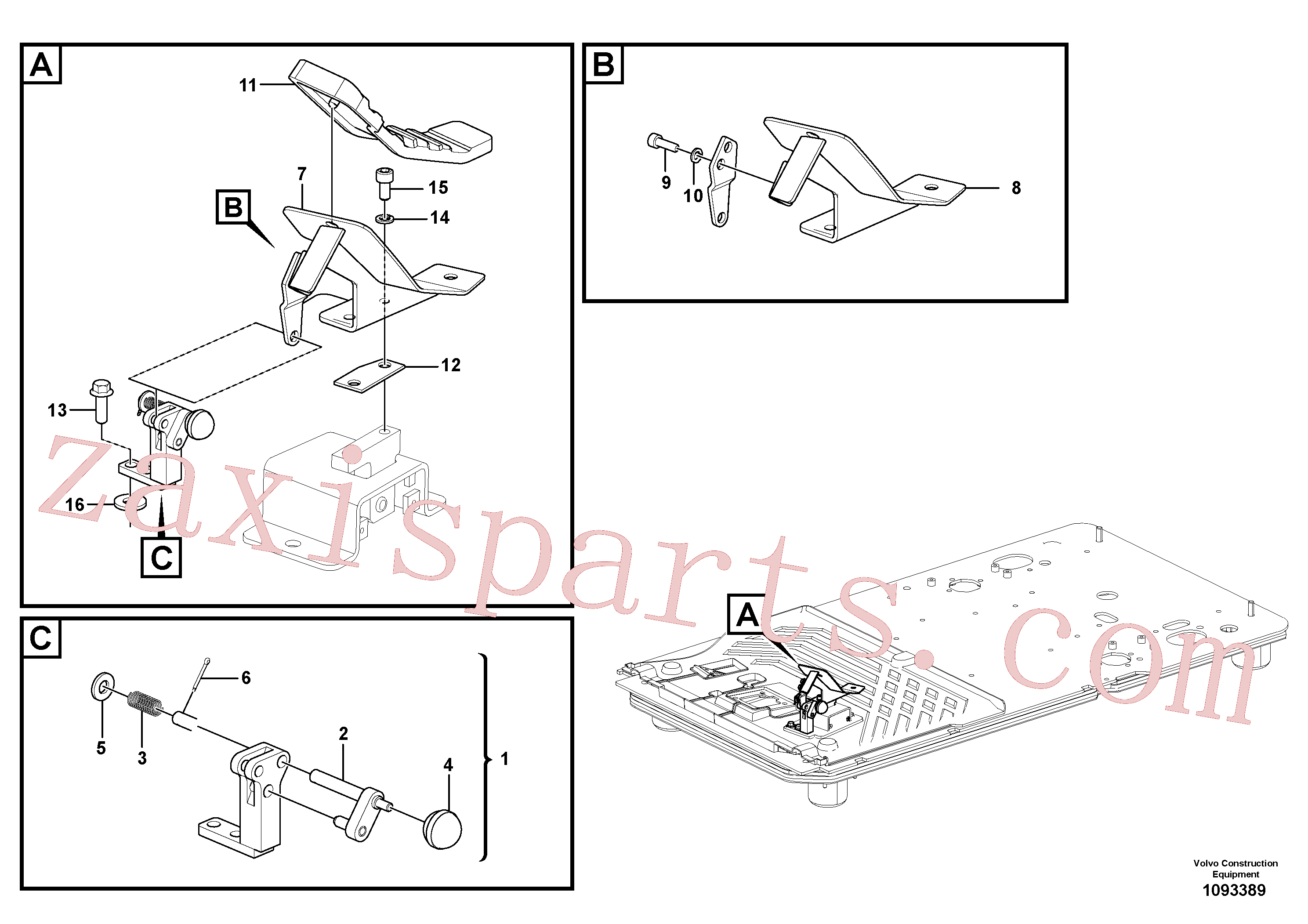 VOE14534435 for Volvo Electric pedal, hammer/shear piping(1093389 assembly)