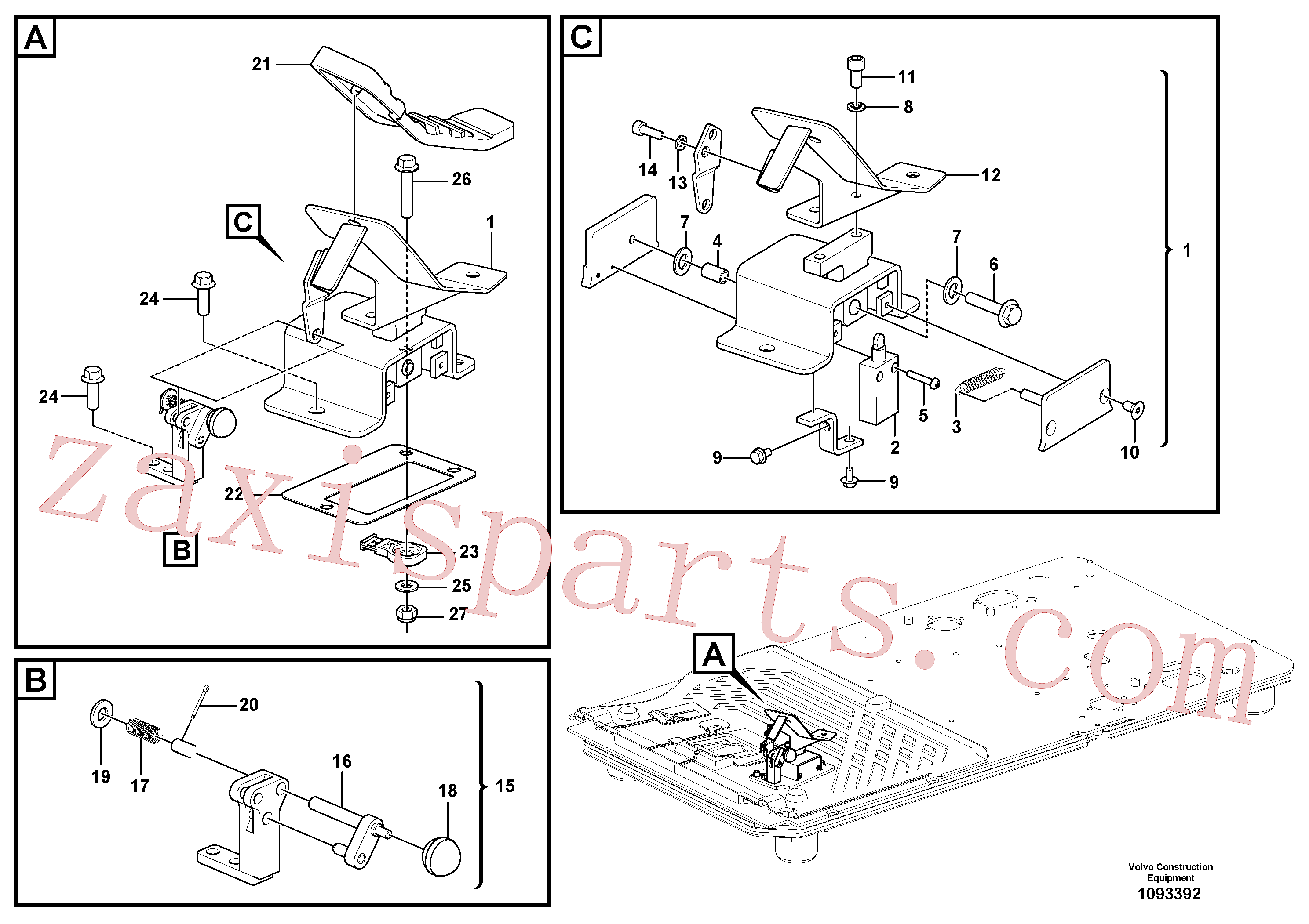 VOE14534435 for Volvo Electric pedal, hammer/shear piping(1093392 assembly)