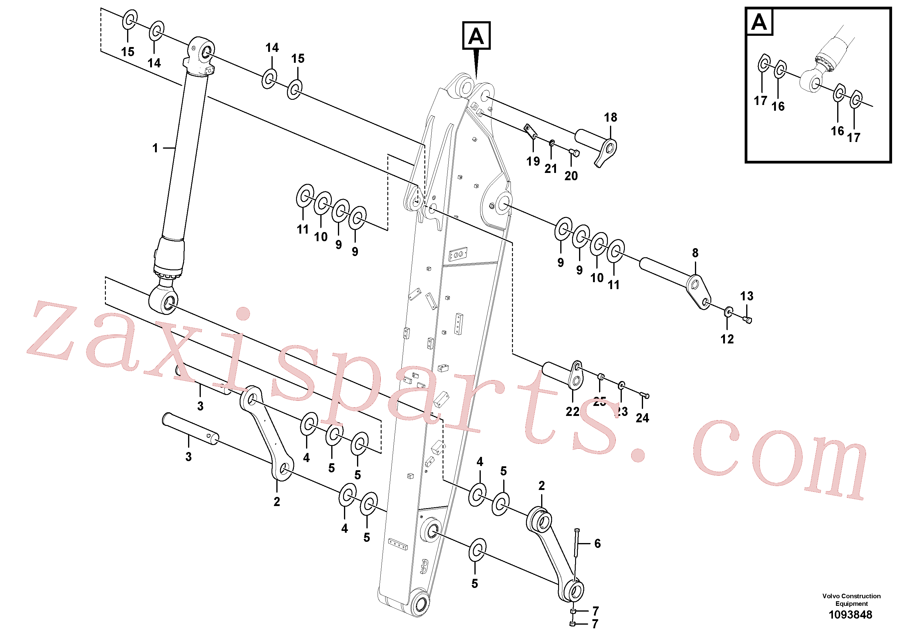 VOE14533394 for Volvo Links to dipper arm(1093848 assembly)
