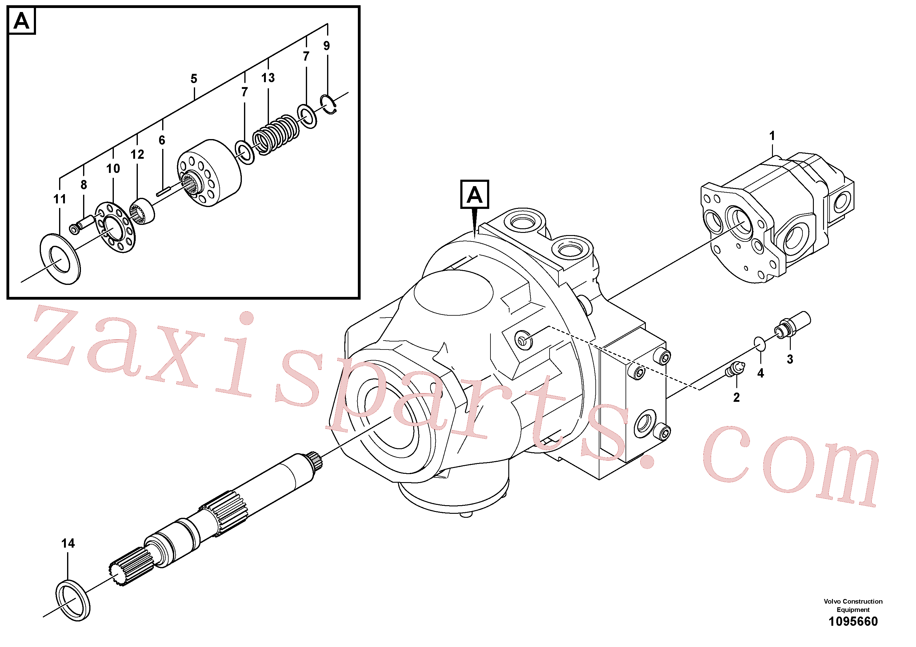 VOE14694293 for Volvo Hydraulic pump(1095660 assembly)