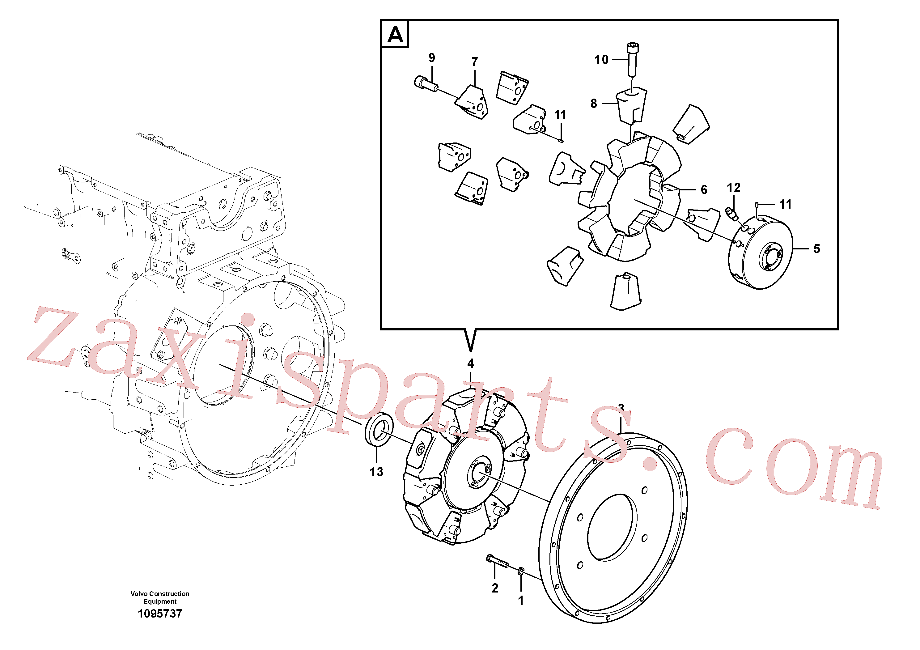 VOE14643347 for Volvo Pump gearbox with assembling parts(1095737 assembly)