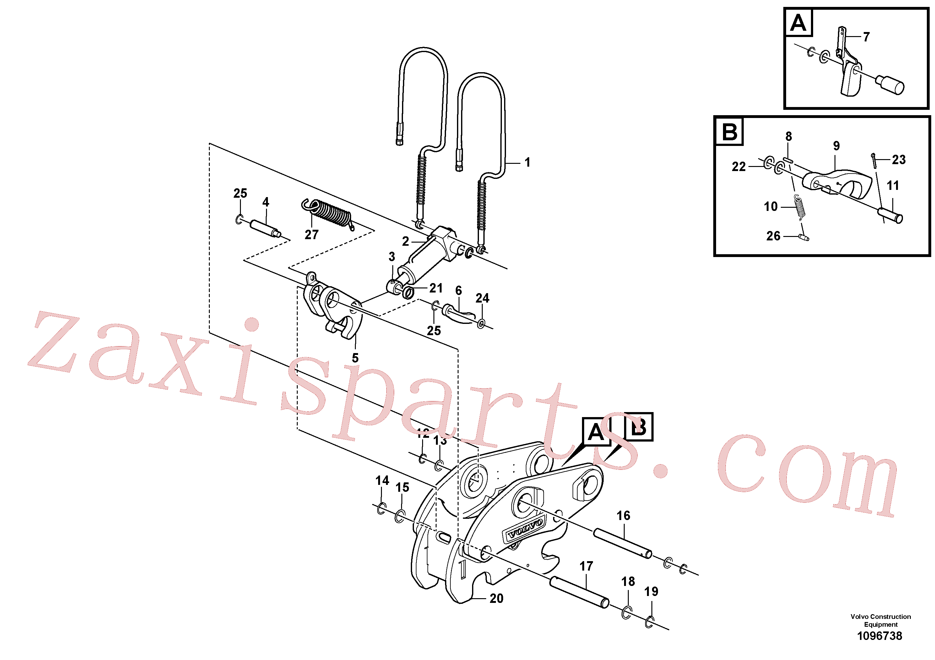 VOE15415857 for Volvo Attachment bracket, quickfit(1096738 assembly)