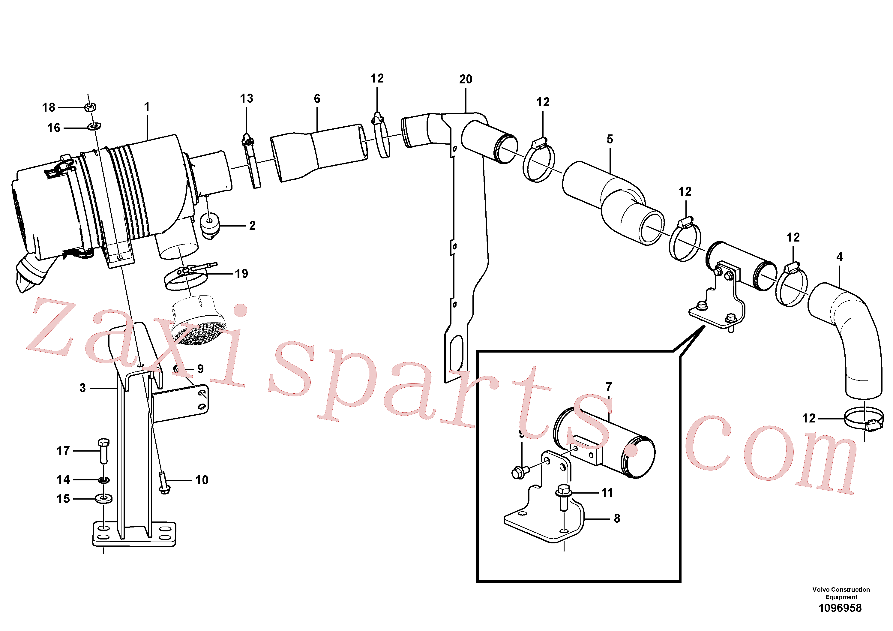 SA9313-10300 for Volvo Inlet system(1096958 assembly)