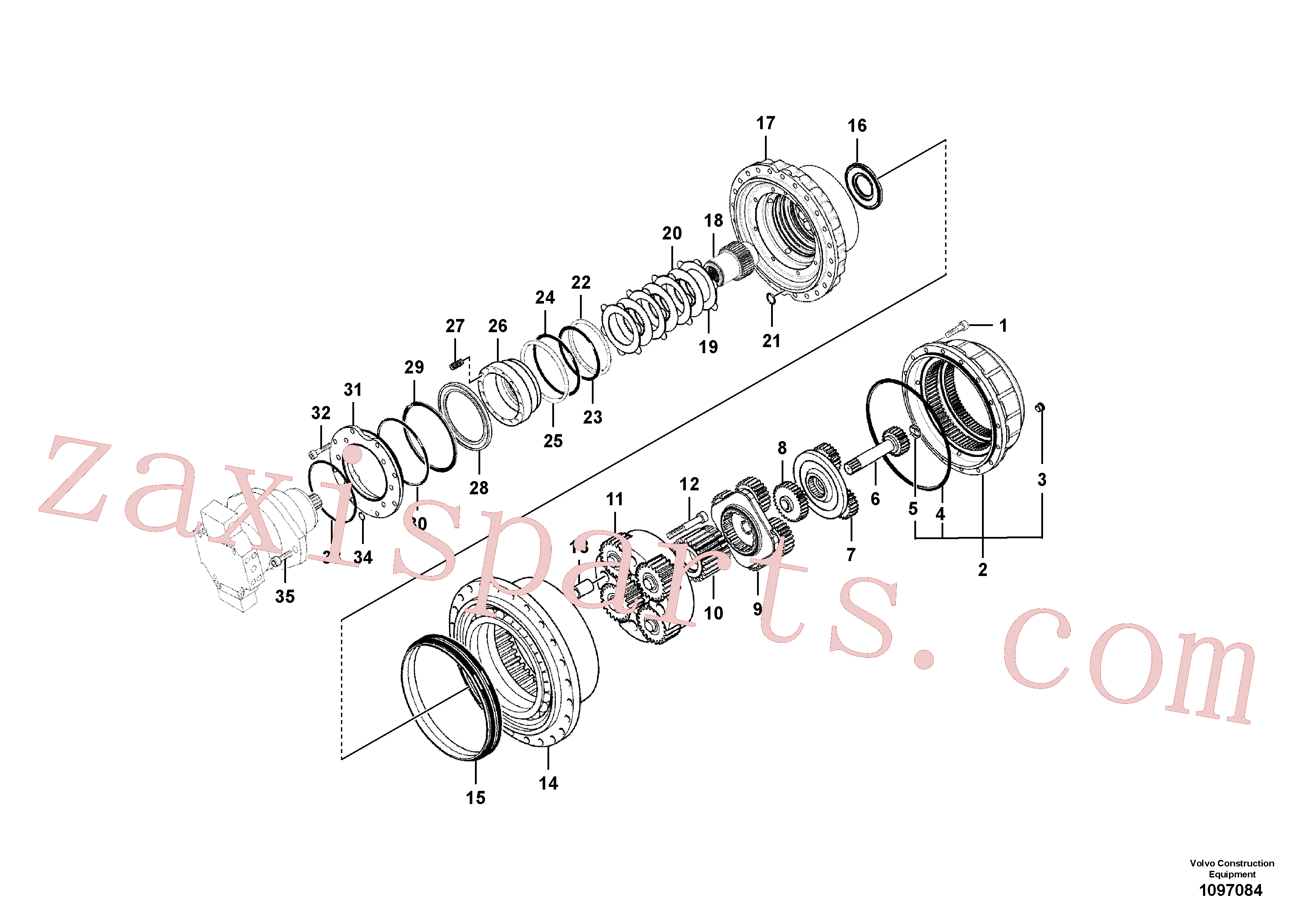 SA8230-22390 for Volvo Travel gearbox(1097084 assembly)