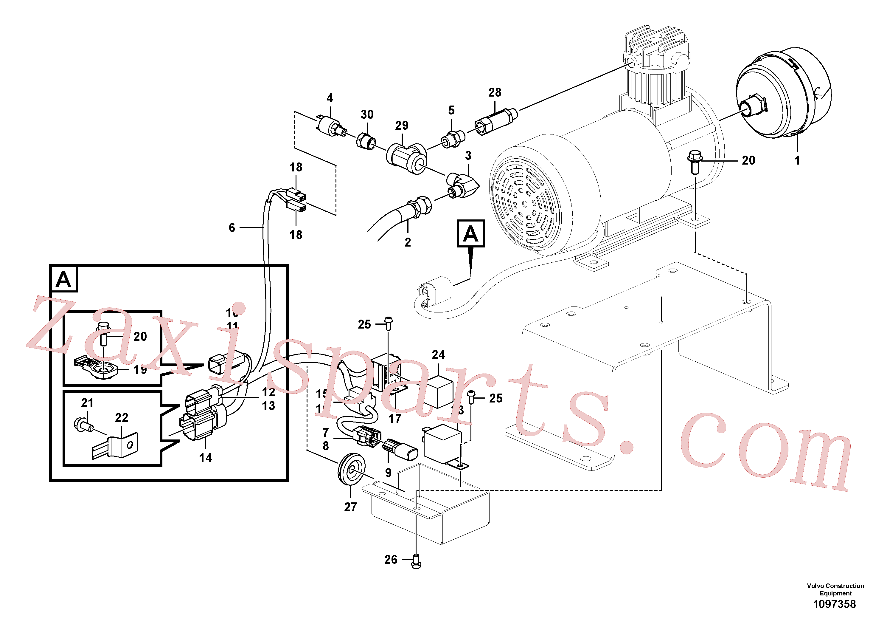 VOE14696325 for Volvo Air compressor(1097358 assembly)