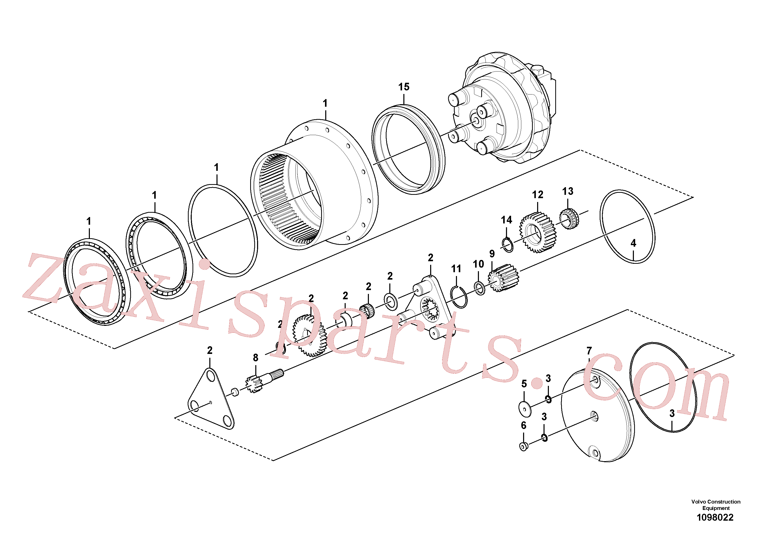 VOE15045381 for Volvo Travel gearbox(1098022 assembly)