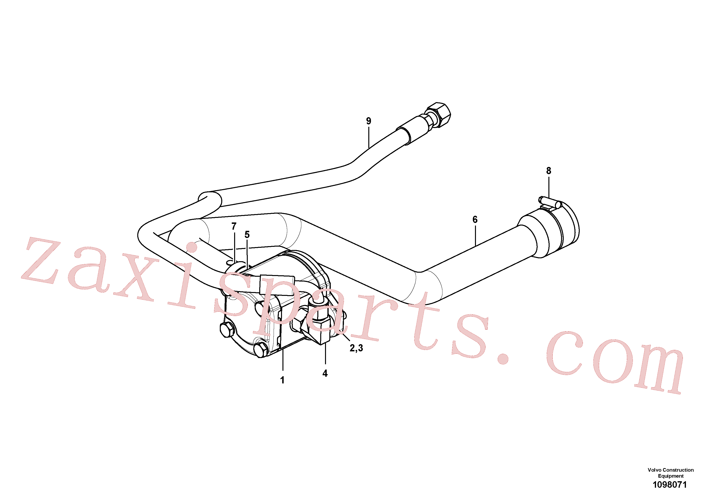 VOE15604351 for Volvo Hydraulic pump(1098071 assembly)