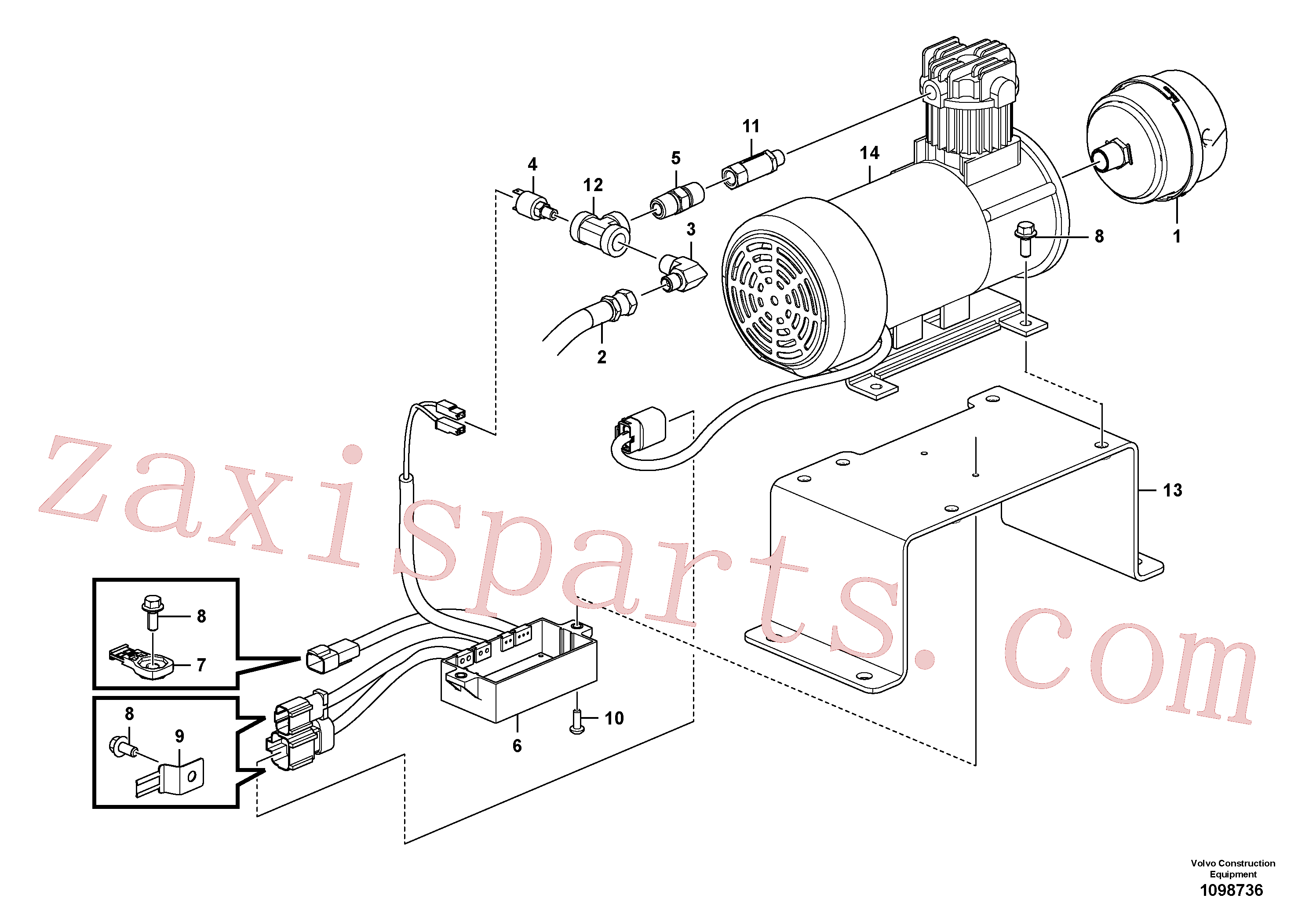 VOE14696325 for Volvo Air compressor(1098736 assembly)