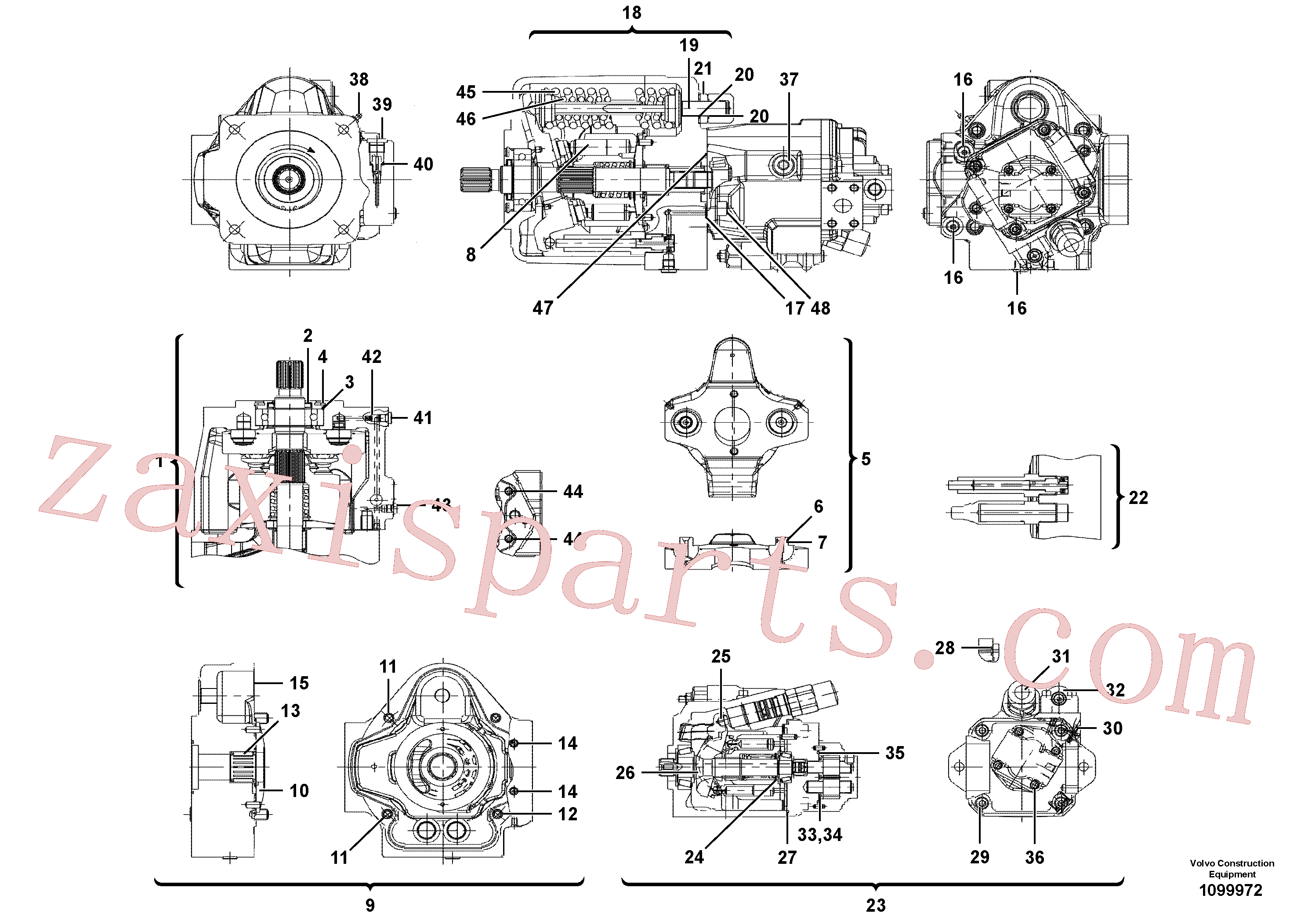 VOE14749209 for Volvo Hydraulic pump(1099972 assembly)
