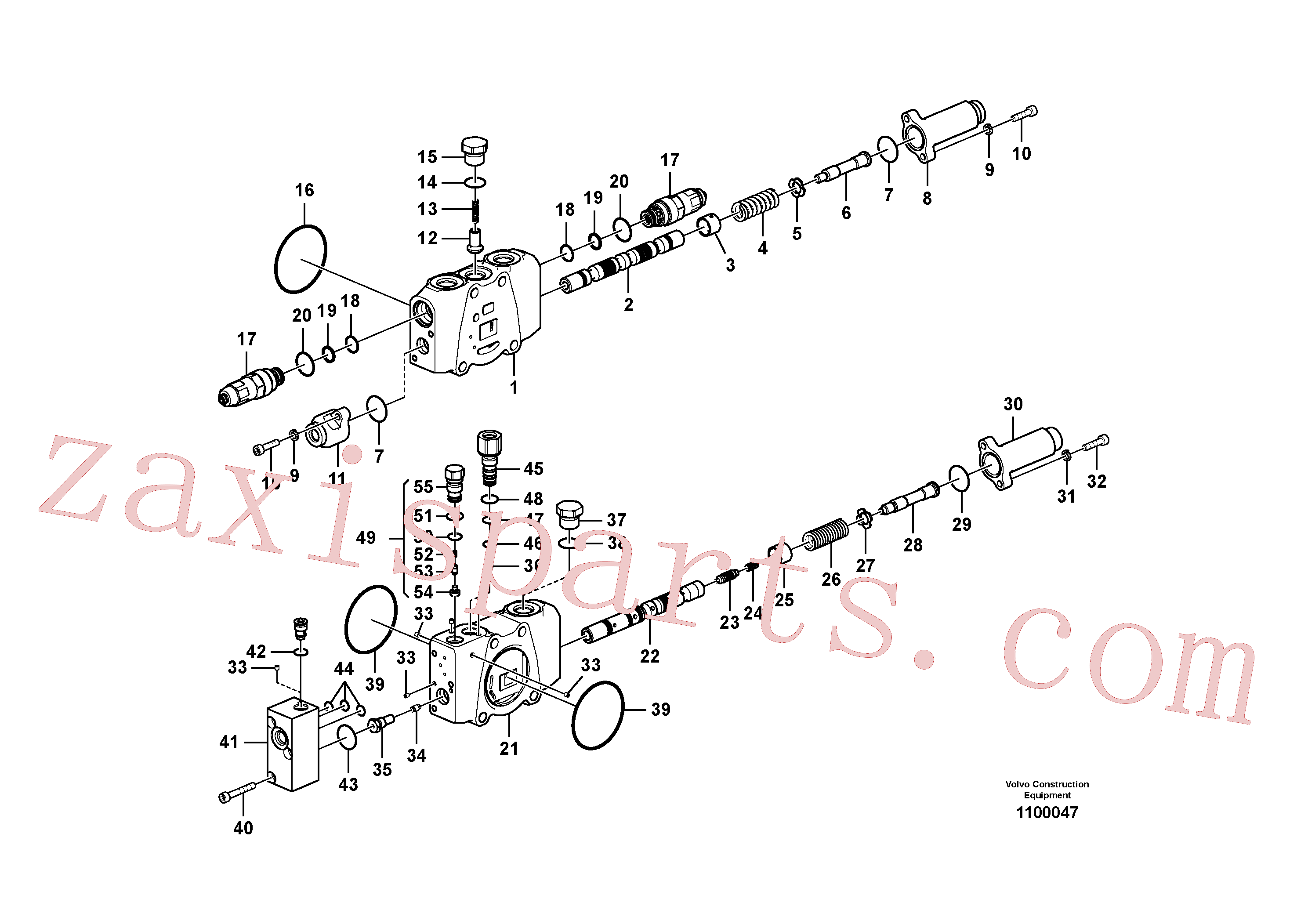 VOE14587095 for Volvo Main control valve(1100047 assembly)