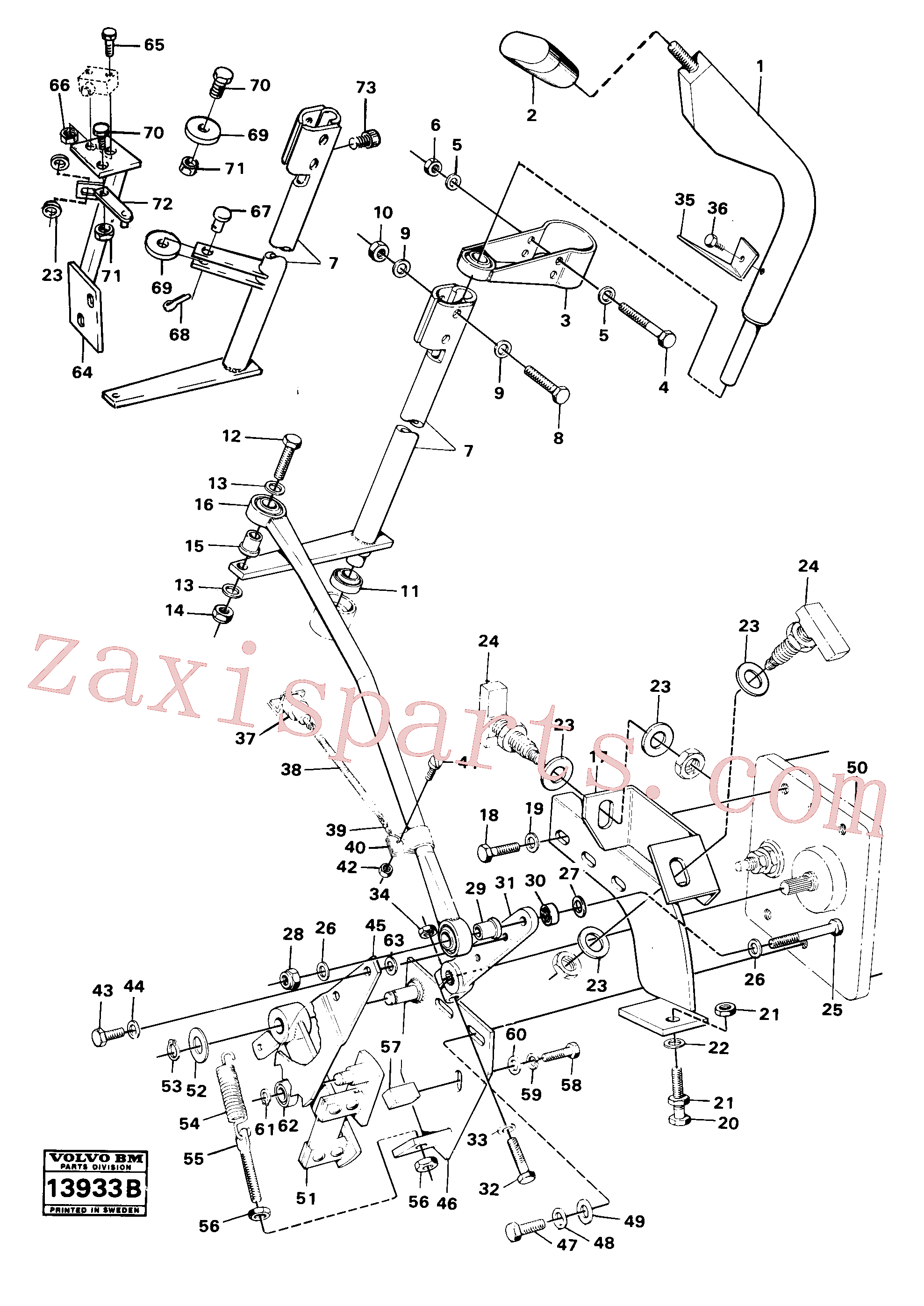 VOE13961170 for Volvo Range selector controls(13933B assembly)