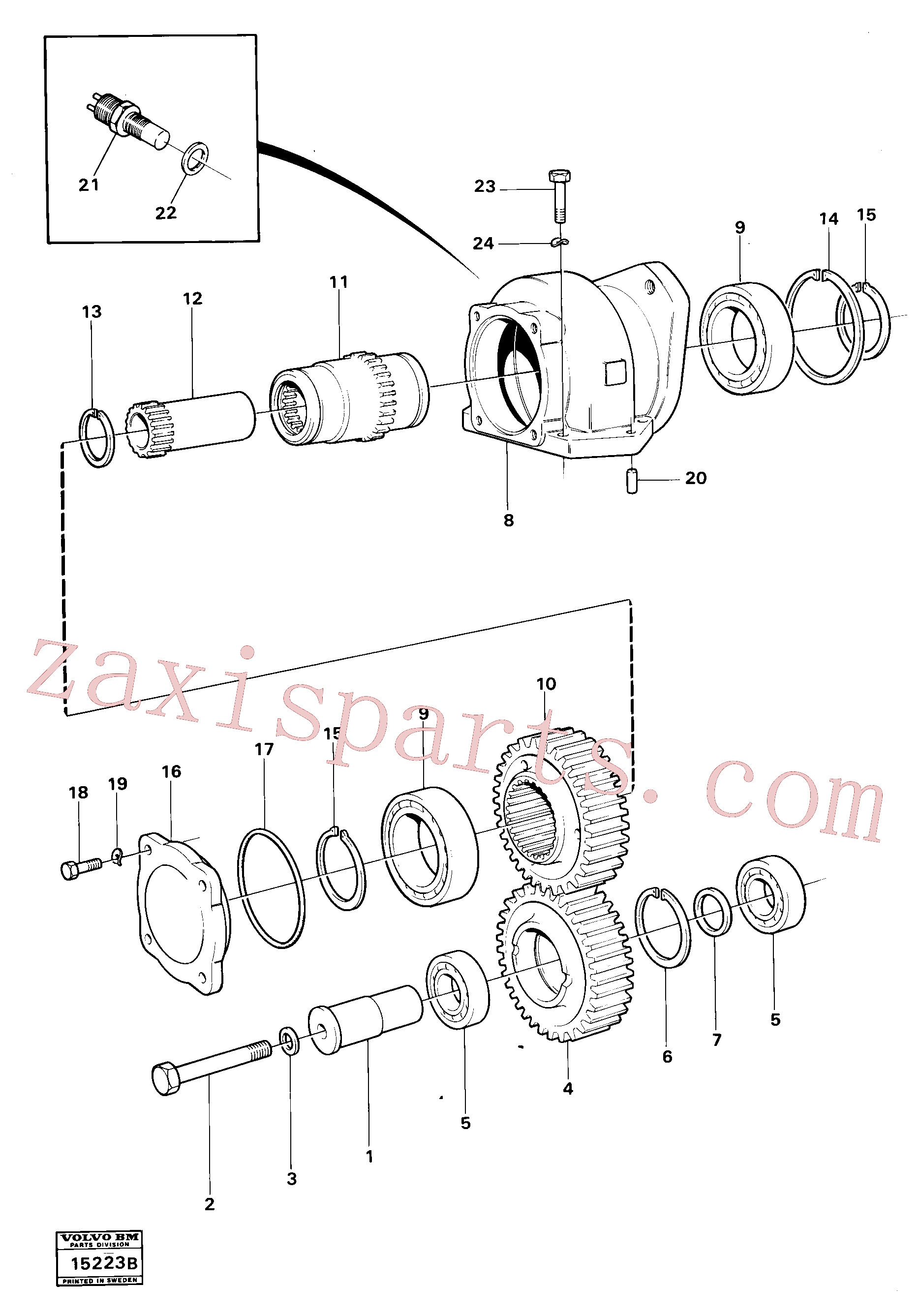 VOE4871042 for Volvo Charging oil-pump drive (ht 120)(15223B assembly)
