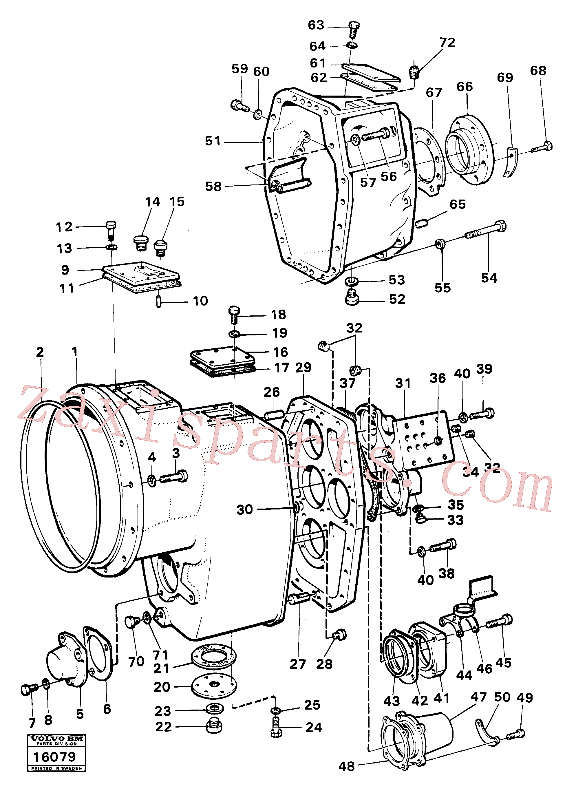 VOE7242168 for Volvo Housing,covers and boltings(16079 assembly)
