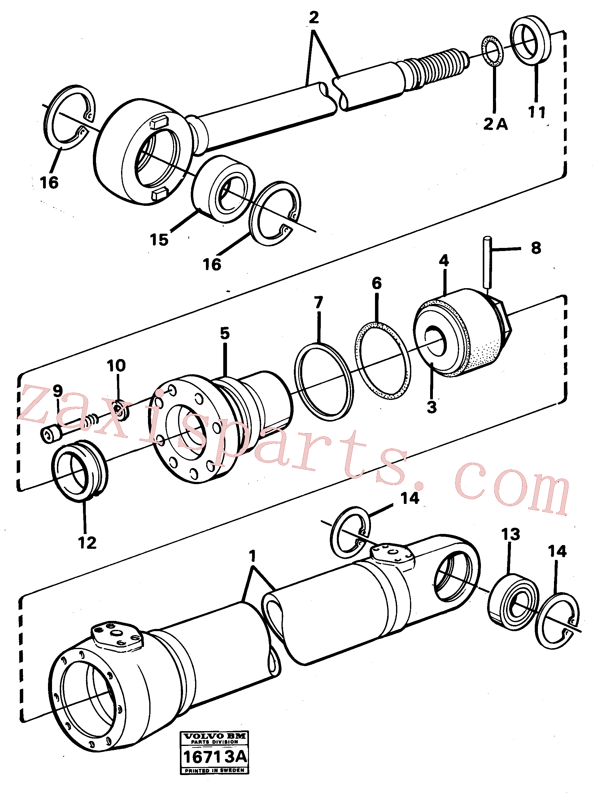 VOE14260828 for Volvo Hydraulic cylinder(16713A assembly)