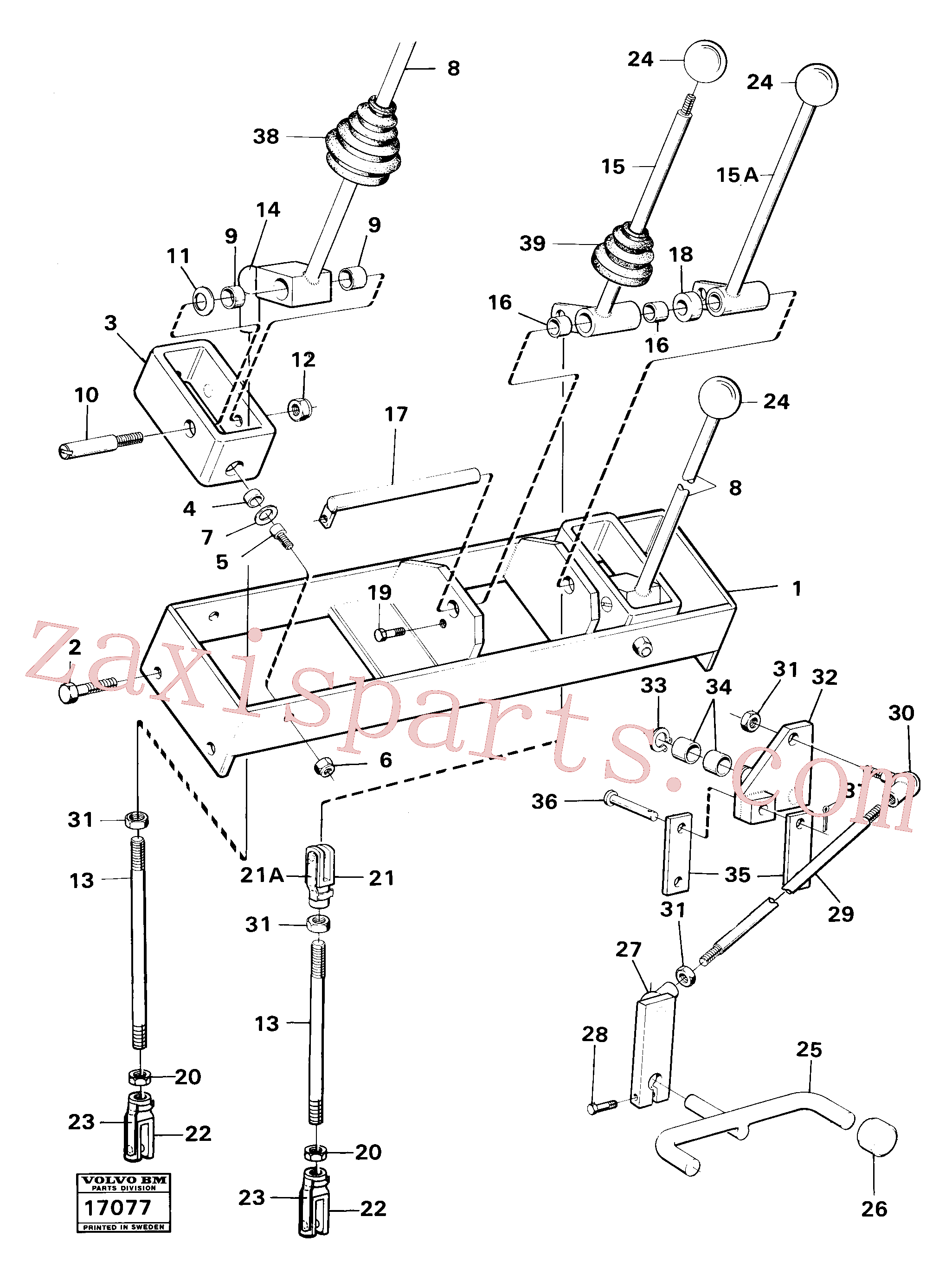 VOE959081 for Volvo Hydraulic controls excavator unit(17077 assembly)