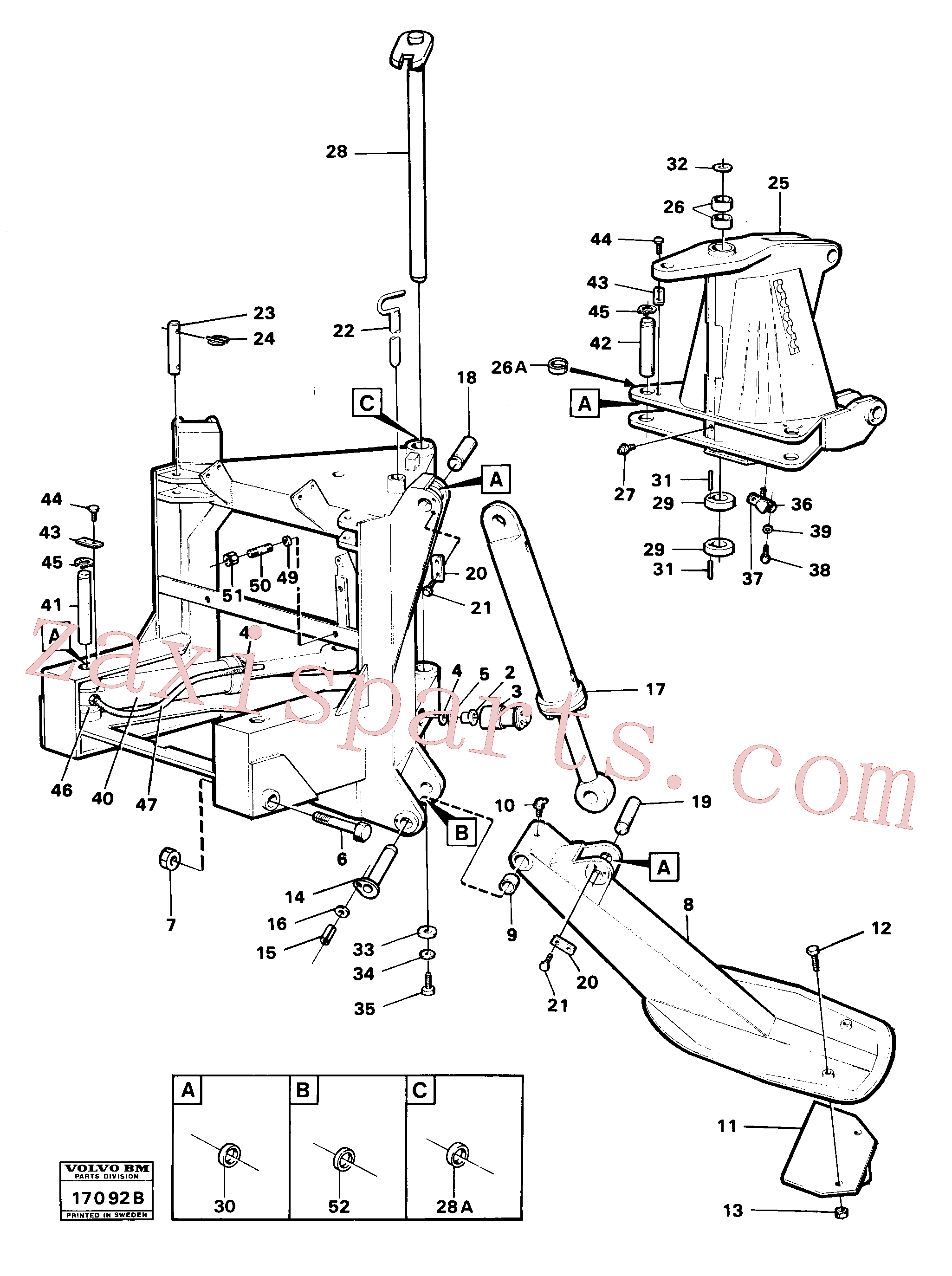 VOE961422 for Volvo Stand, supporting legs and centre frame(17092B assembly)