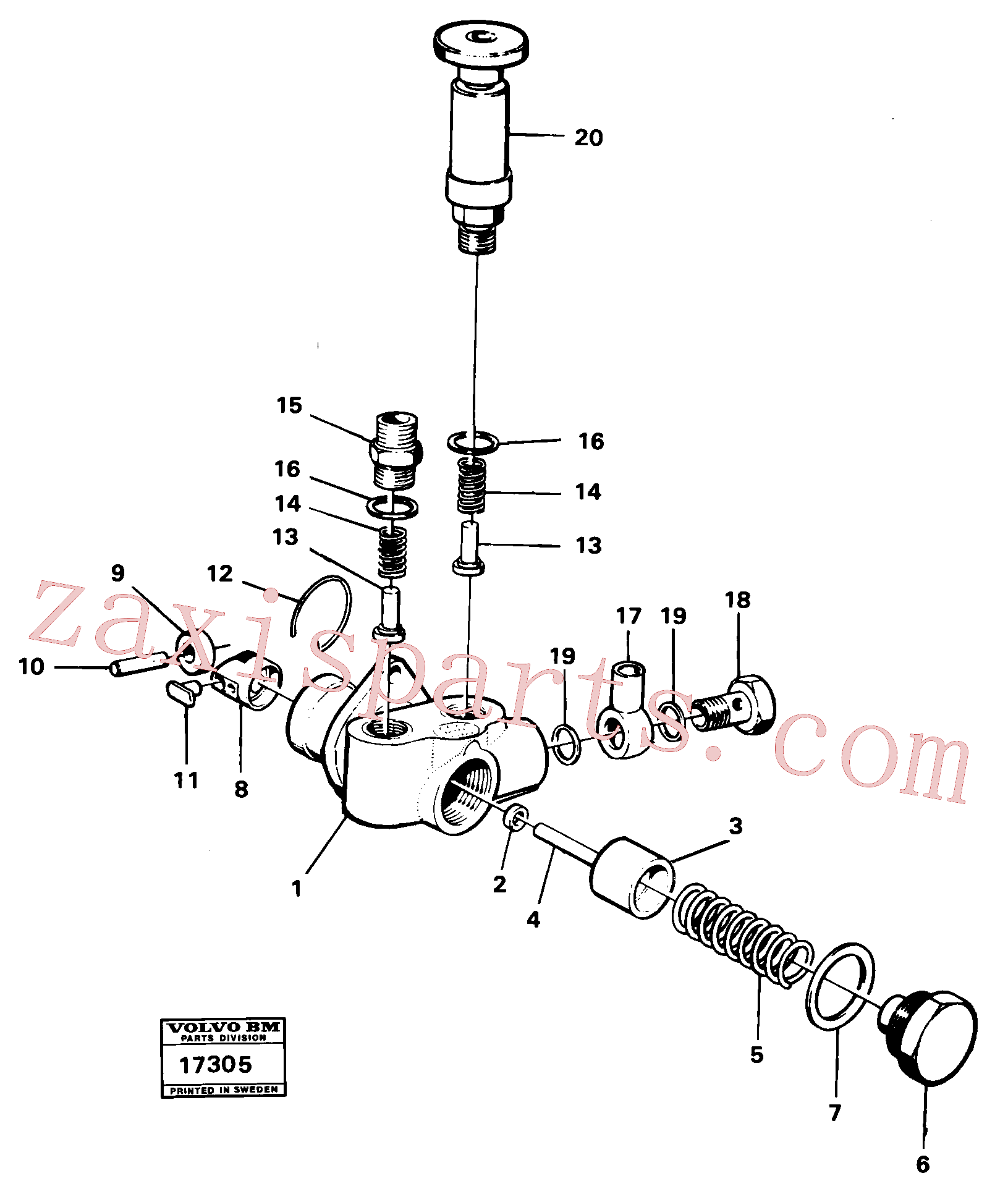 ZM2906935 for Volvo Feed pump mo 59800-, Feed pump prod no 16307(17305 assembly)