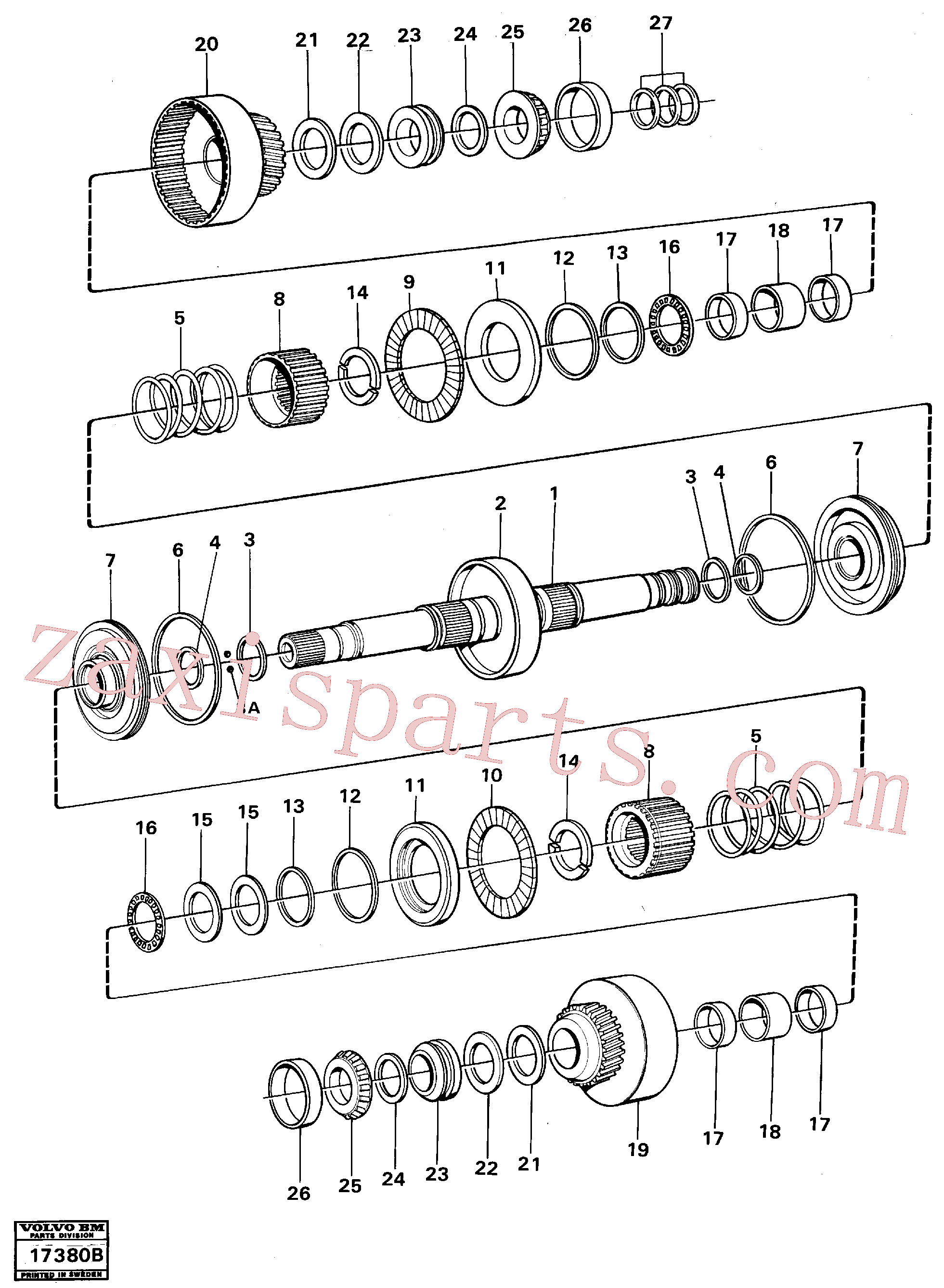 VOE11037114 for Volvo Clutches forward and reverse(17380B assembly)