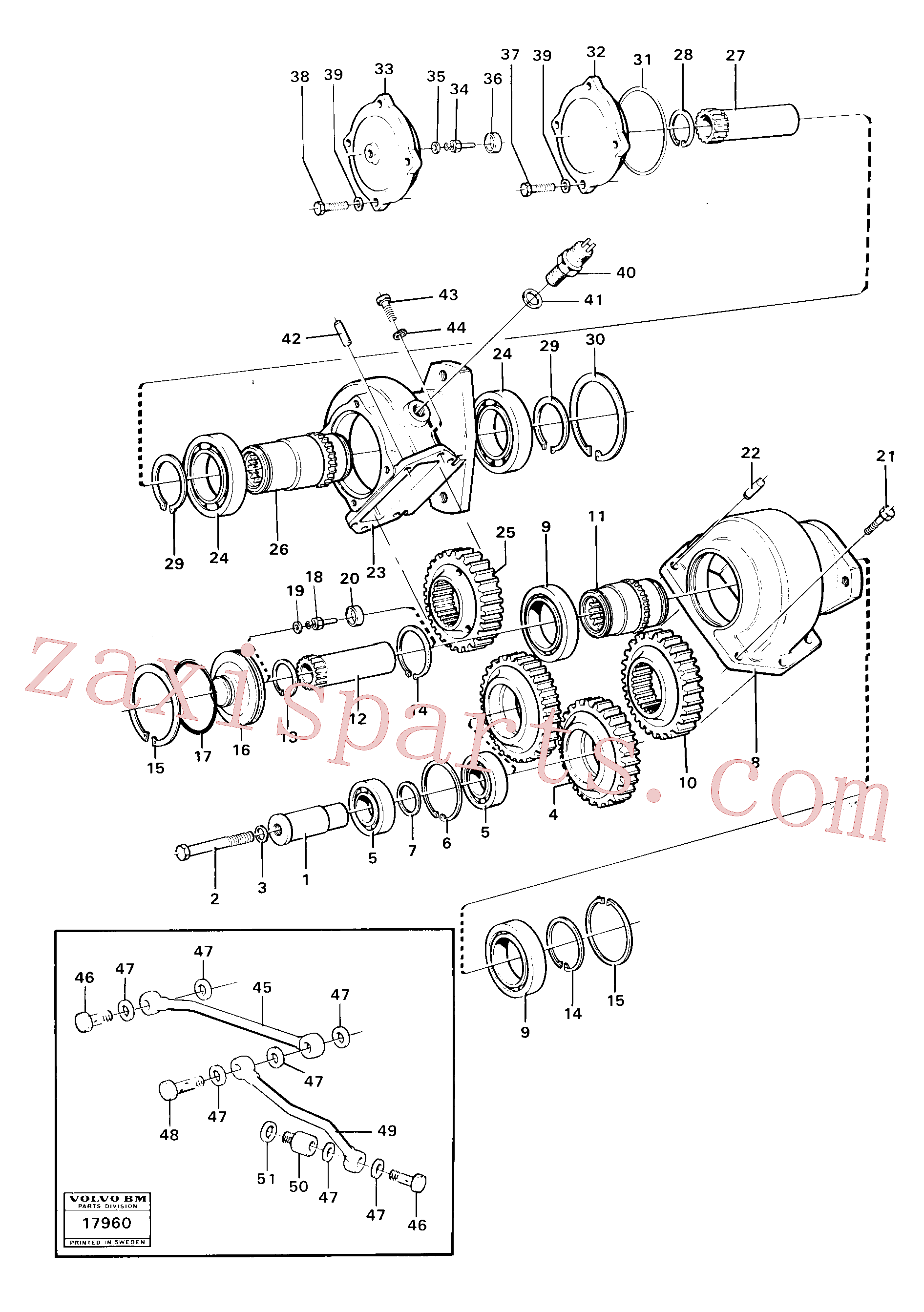 VOE4871042 for Volvo Pump drive(17960 assembly)