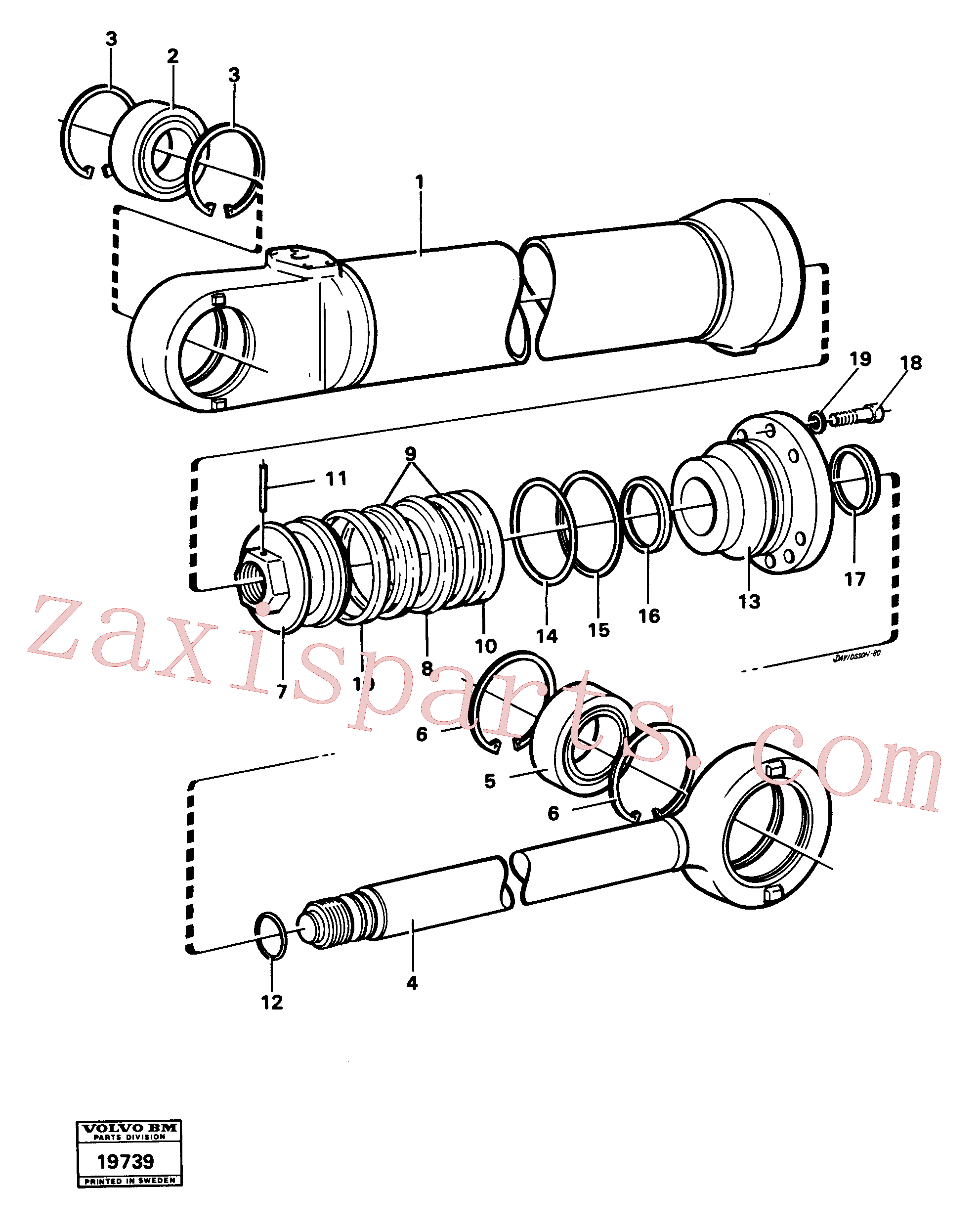 VOE4833025 for Volvo Hydraulic cylinder lifting(19739 assembly)