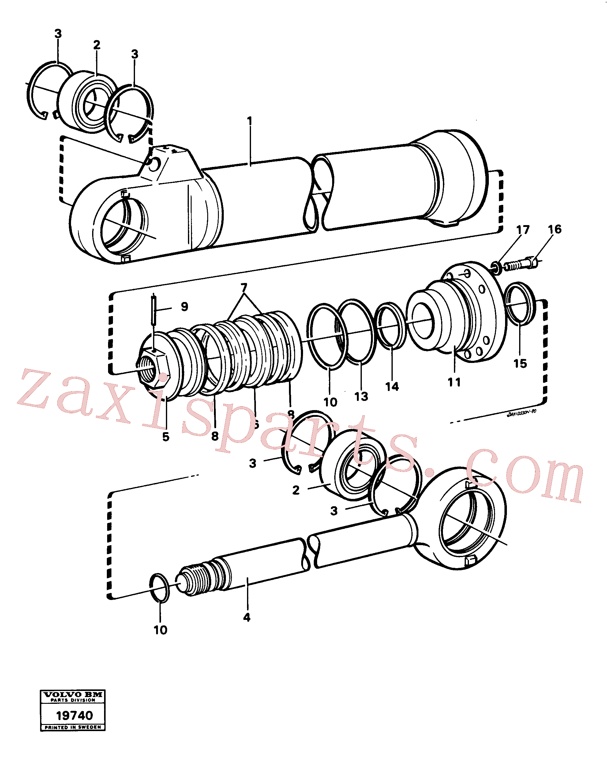 VOE4787062 for Volvo Hydraulic cylinder tilting(19740 assembly)