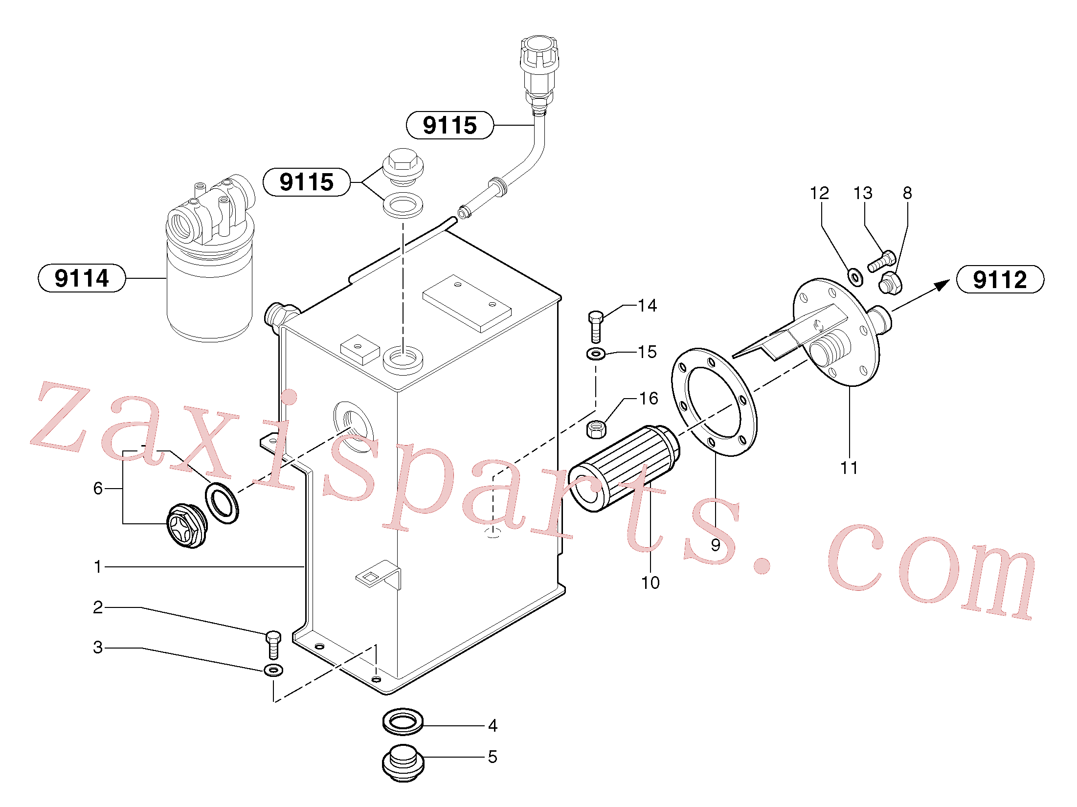 PJ4740043 for Volvo Hydraulic tank(9111X1 assembly)