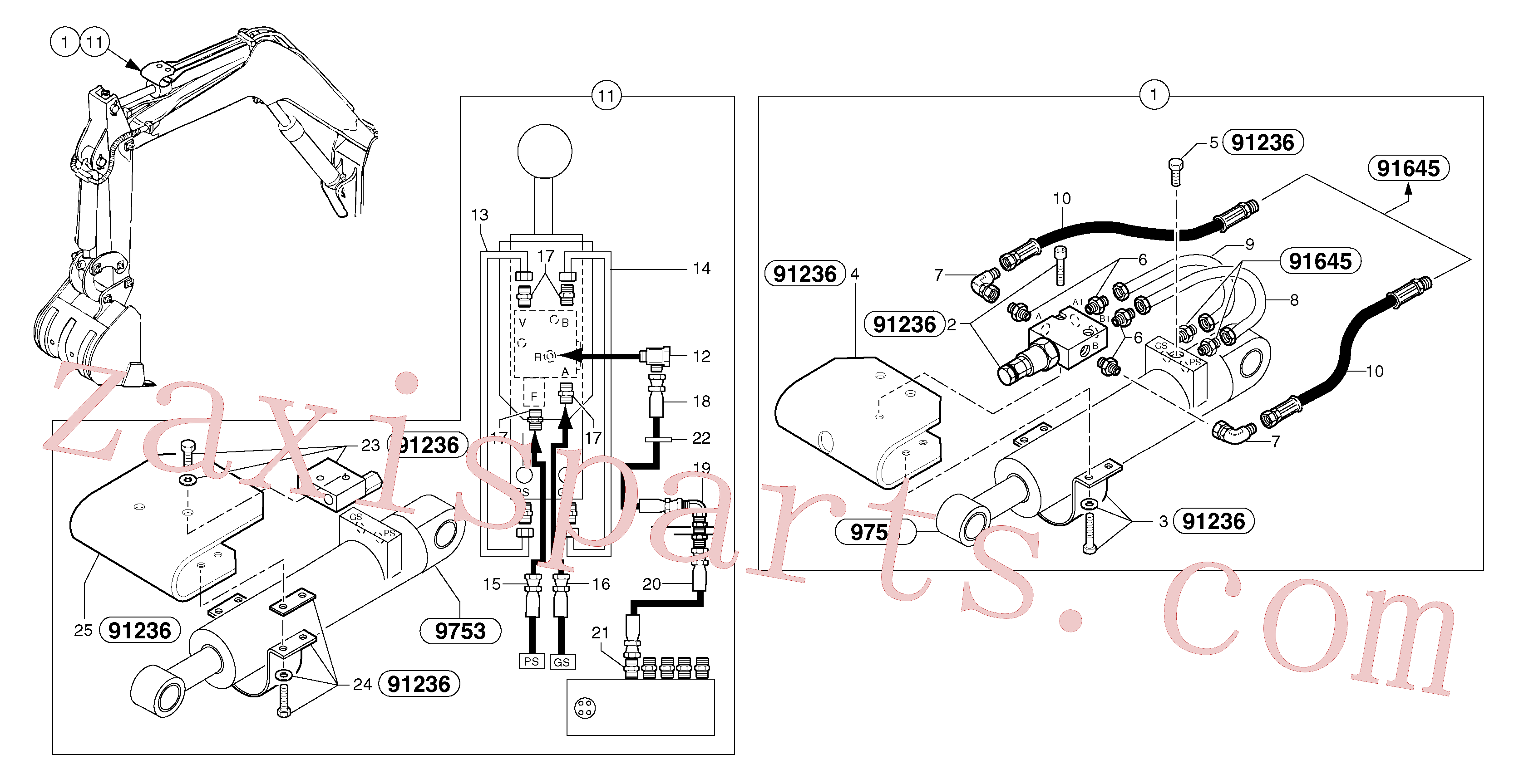 VOE11805549 for Volvo Hydraulic circuit ( safety valve / dipper arm )(91649X1 assembly)