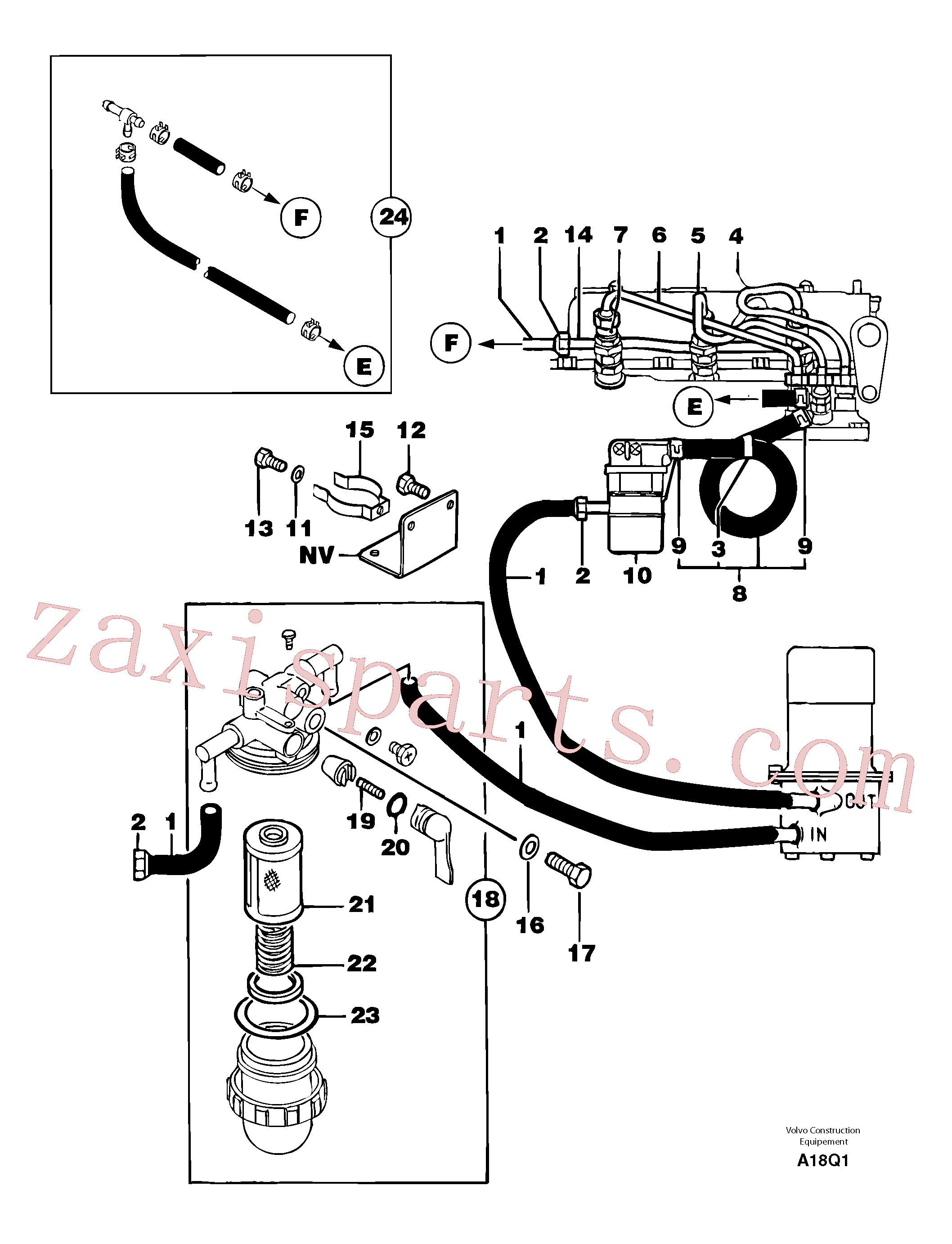 PJ2360015 for Volvo Fuel circuit(A18Q1 assembly)