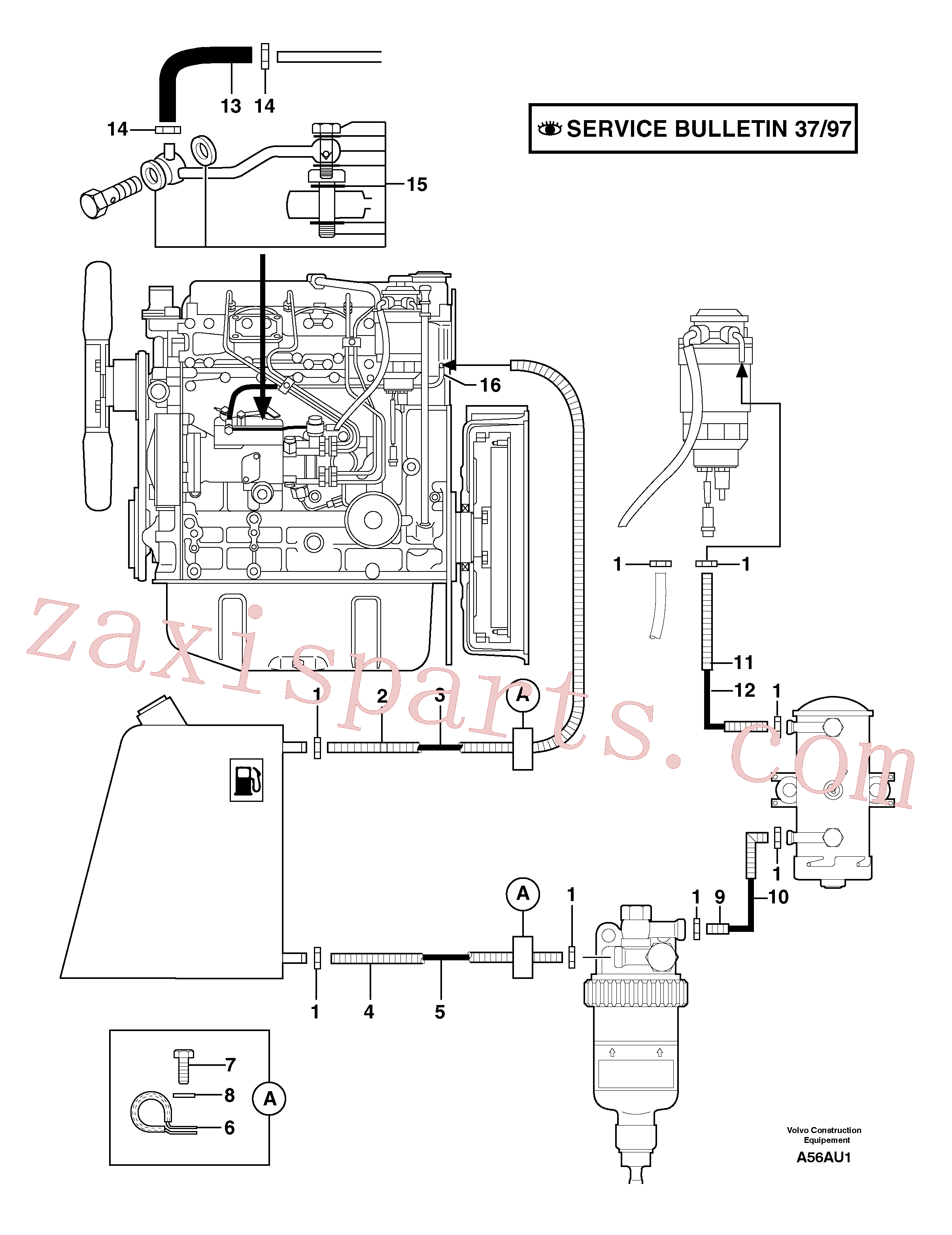 PJ2360015 for Volvo Fuel circuit(A56AU1 assembly)