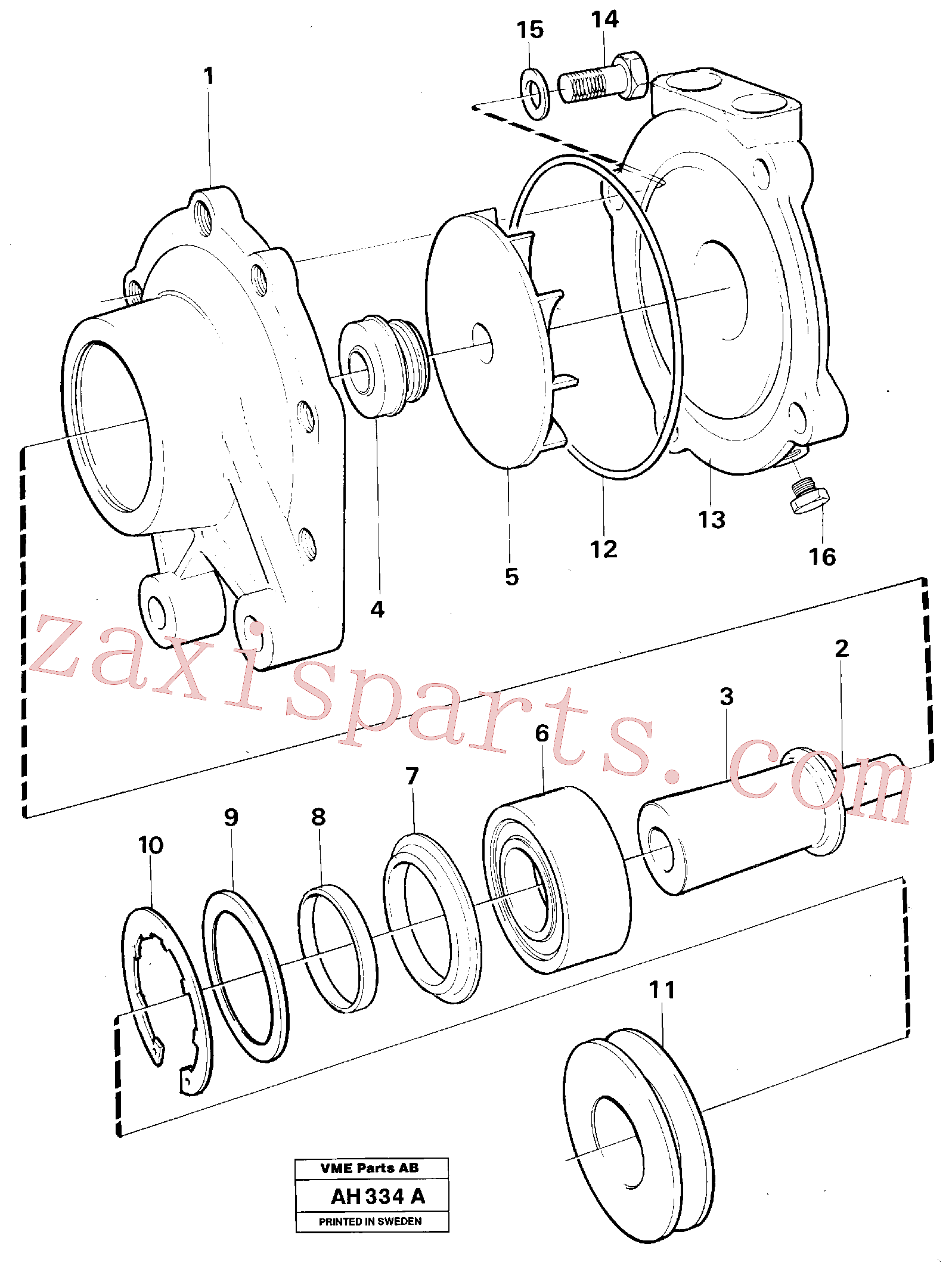 VOE11710604 for Volvo Water pump(AH334A assembly)