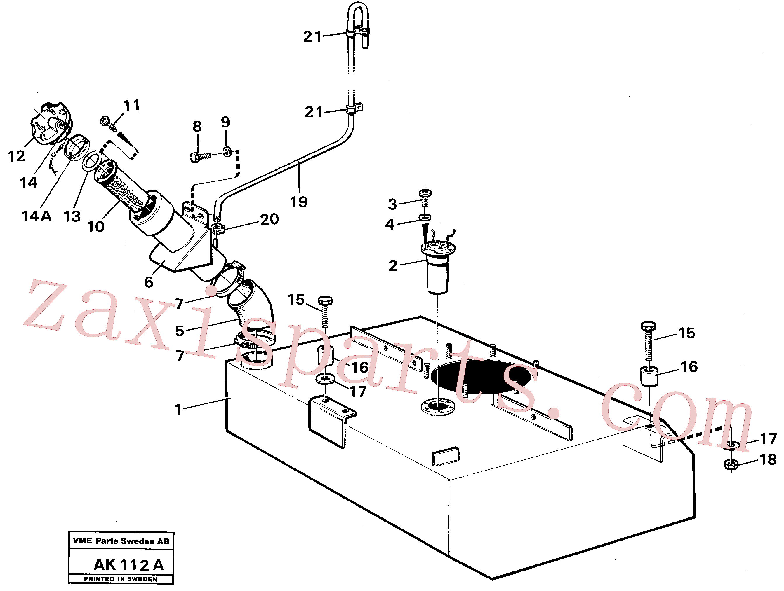 VOE943483 for Volvo Fuel tank with fitting parts(AK112A assembly)