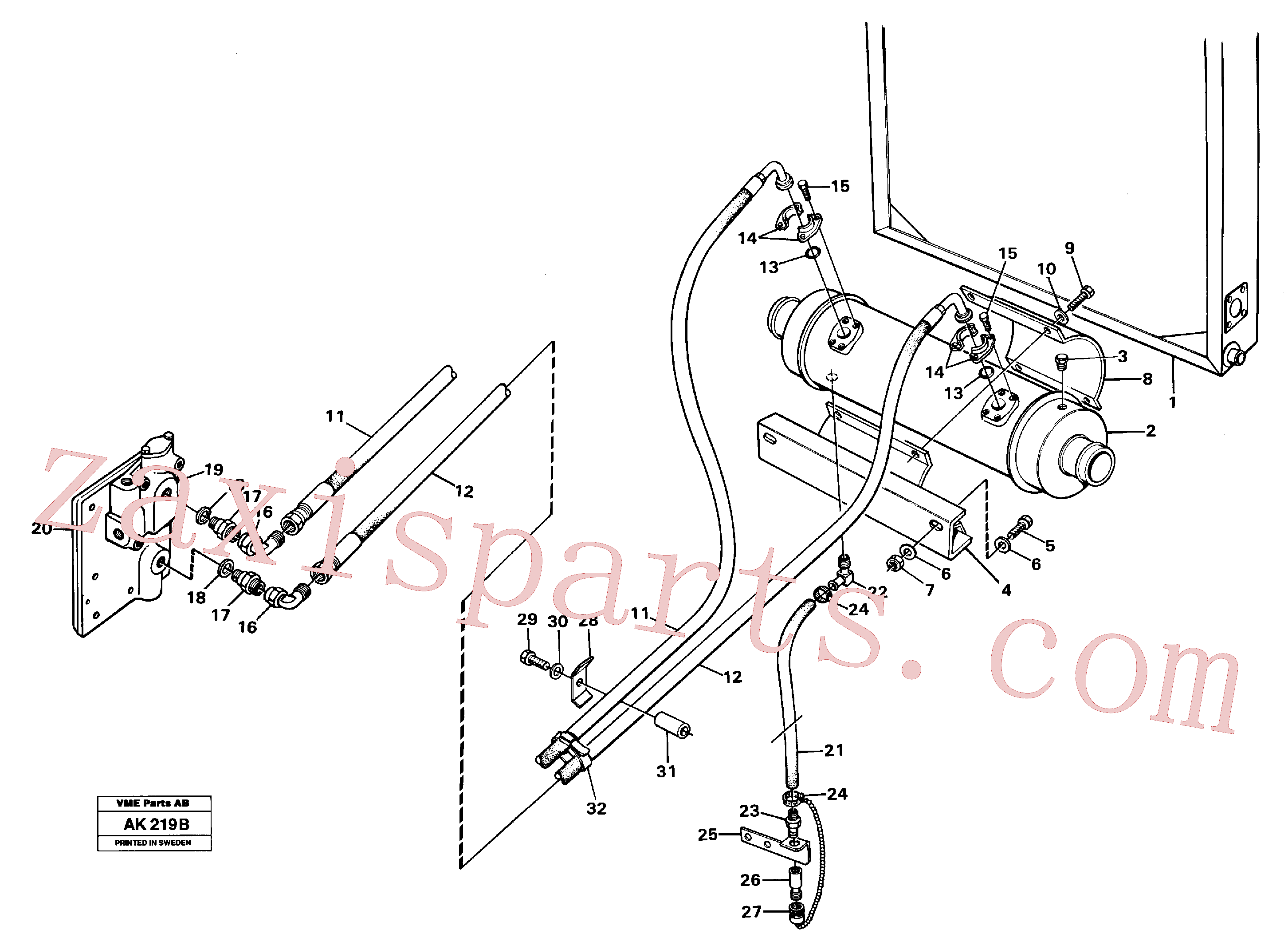 VOE13948700 for Volvo Oil cooler(AK219B assembly)
