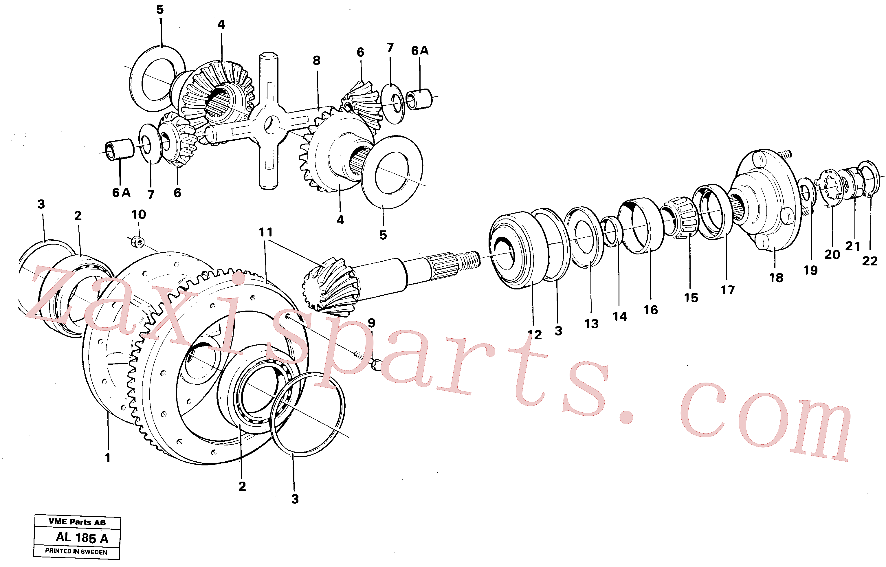 VOE11035920 for Volvo Differential carrier, See Sb 460 Ind K9(AL185A assembly)