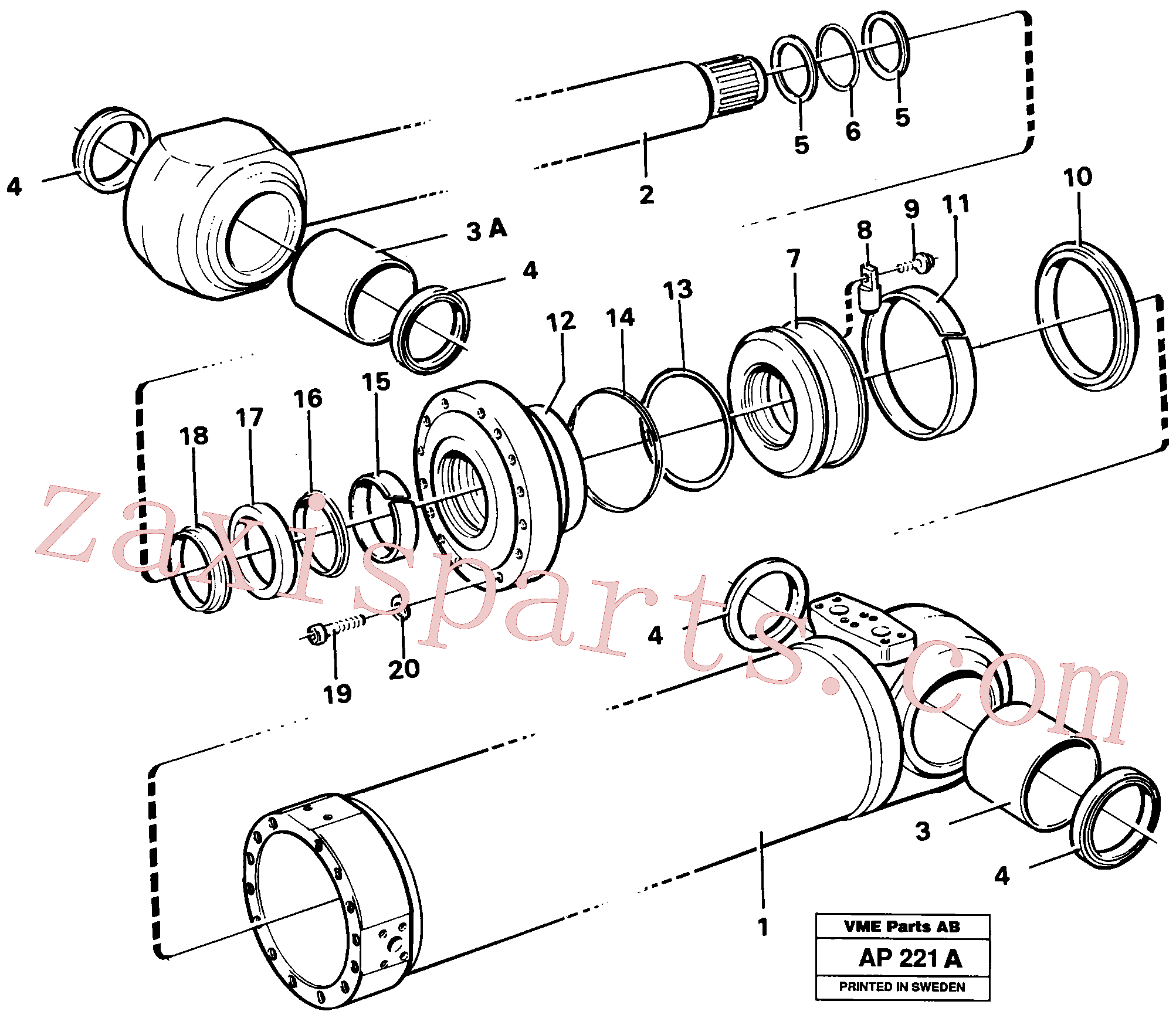 VOE941914 for Volvo Hydraulic cylinder Tilting(AP221A assembly)