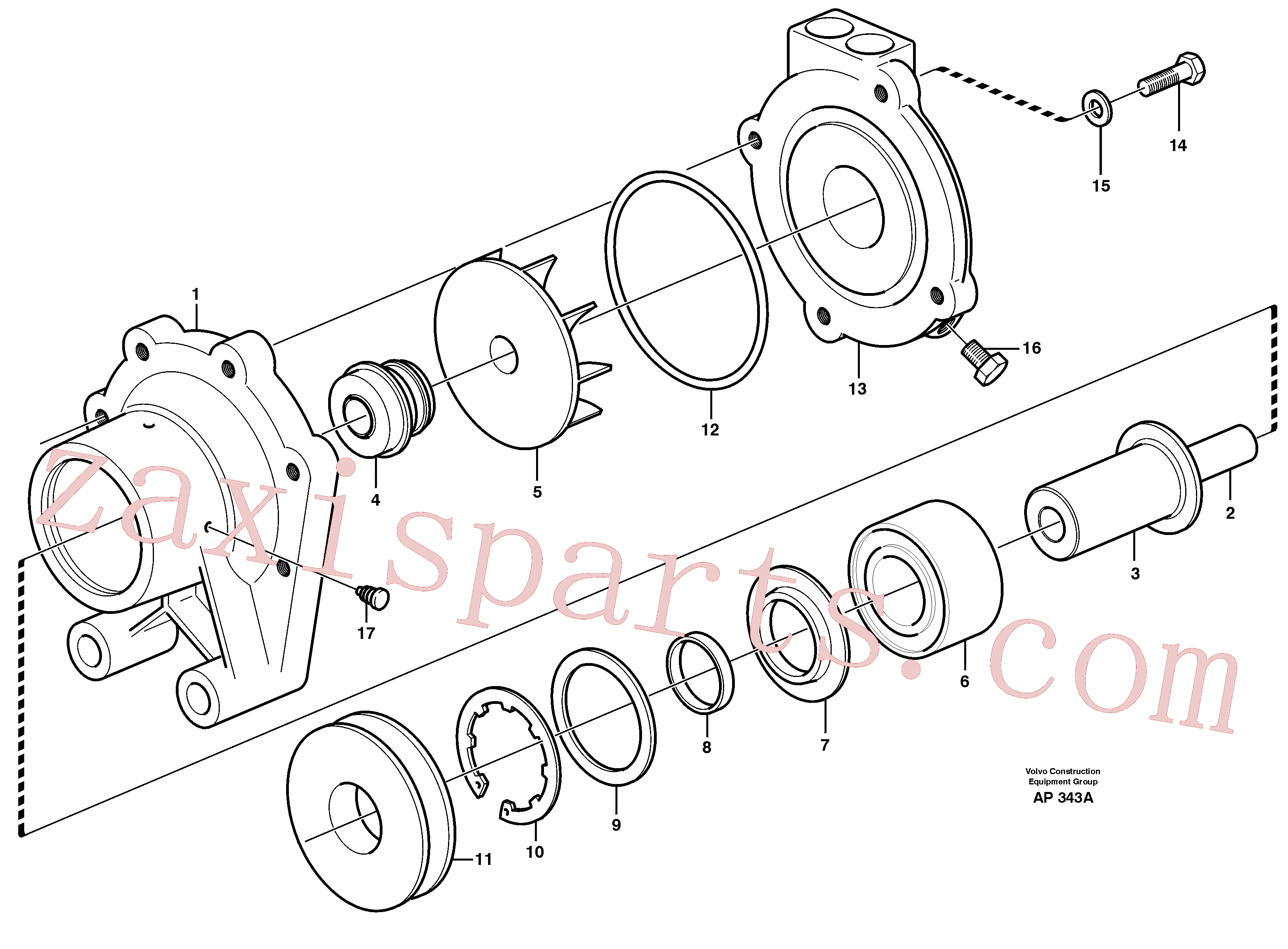 VOE11710604 for Volvo Water pump(AP343A assembly)