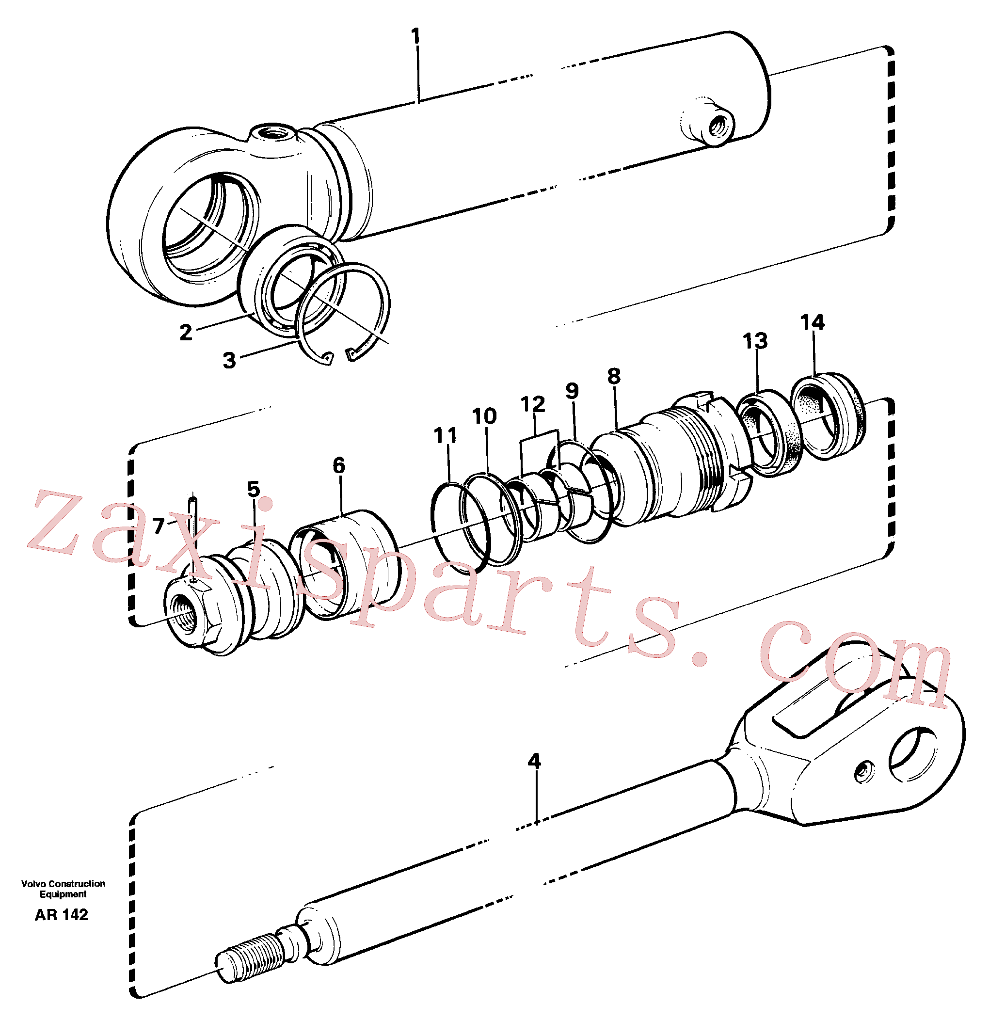VOE184428 for Volvo Hydraulic cylinder(AR142 assembly)